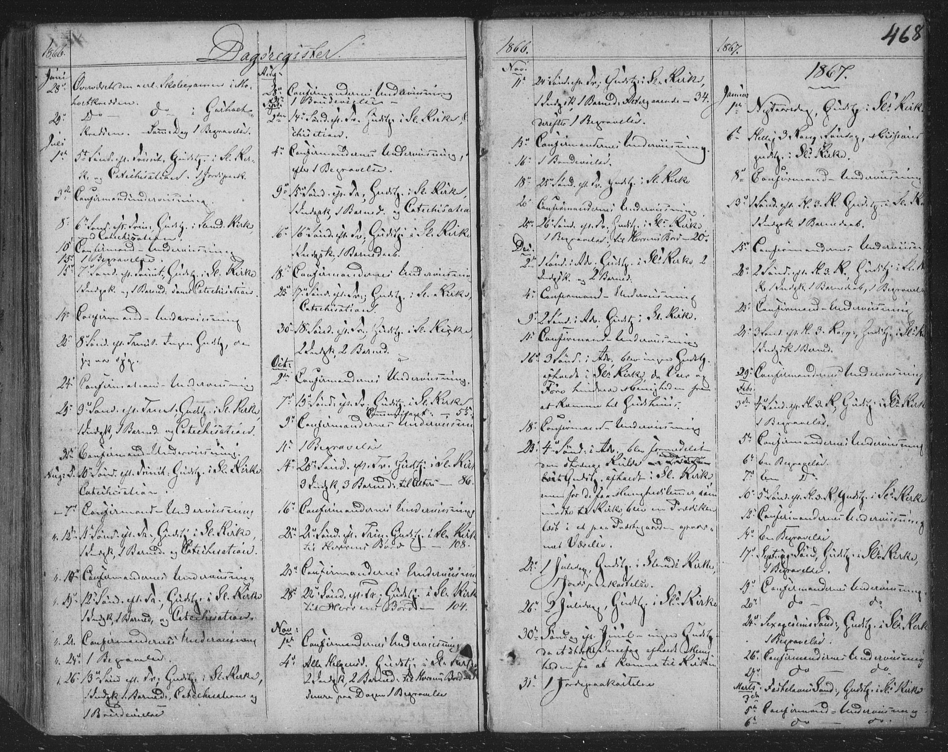SAKO, Siljan kirkebøker, F/Fa/L0001: Parish register (official) no. 1, 1831-1870, p. 468