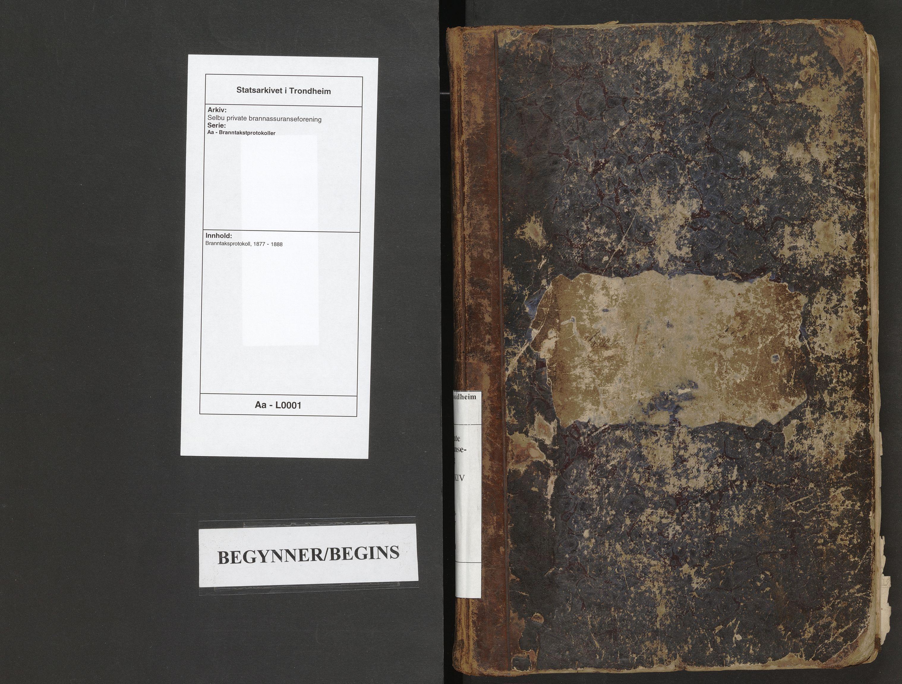 SAT, Selbu private brannassuranseforening, Aa/L0001: Branntaksprotokoll, 1877-1888