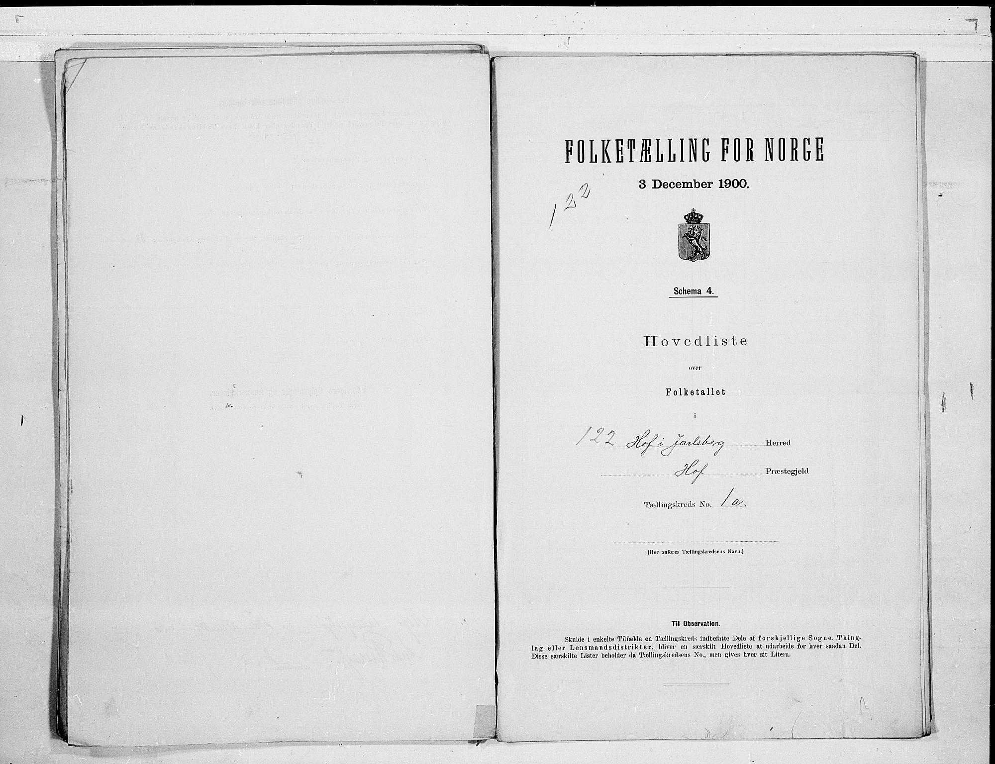 RA, 1900 census for Hof, 1900, p. 4