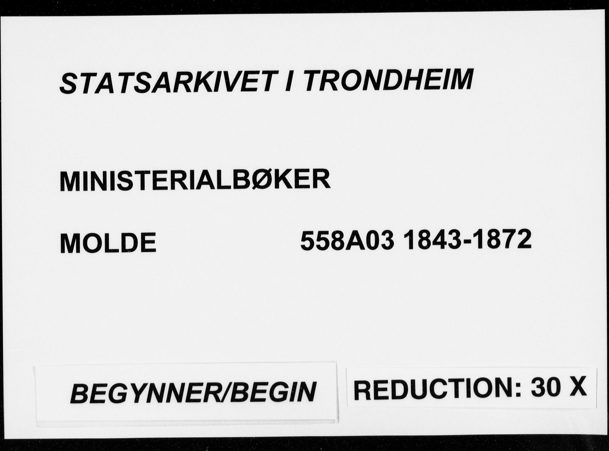 SAT, Ministerialprotokoller, klokkerbøker og fødselsregistre - Møre og Romsdal, 558/L0689: Parish register (official) no. 558A03, 1843-1872