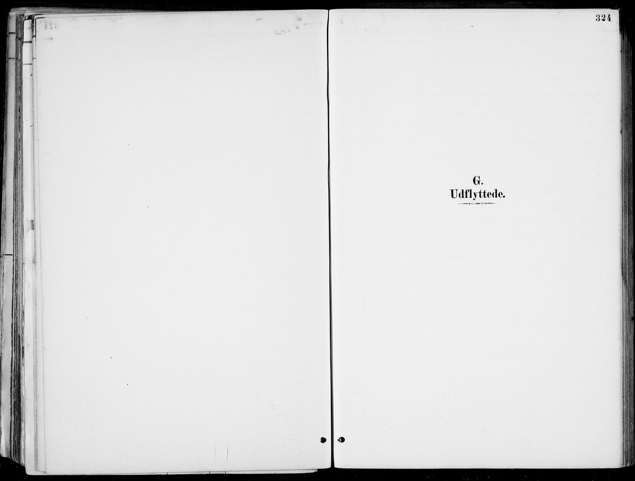 SAB, Strandebarm Sokneprestembete, H/Haa: Parish register (official) no. E  1, 1886-1908, p. 324