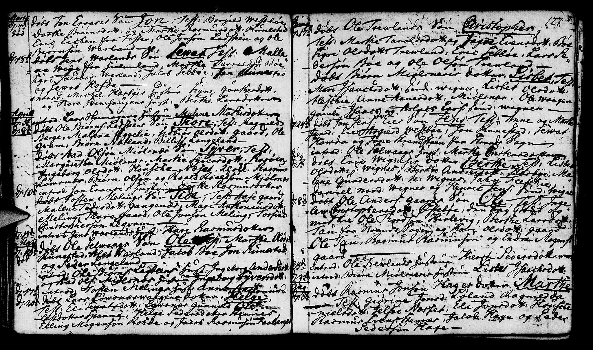 SAST, Finnøy sokneprestkontor, H/Ha/Haa/L0005: Parish register (official) no. A 5, 1773-1816, p. 127