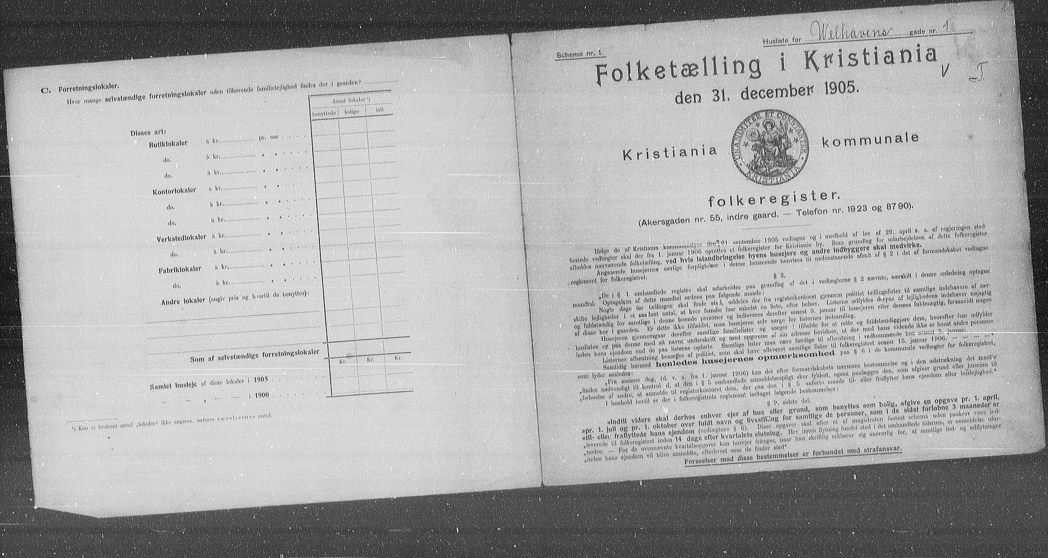 OBA, Municipal Census 1905 for Kristiania, 1905, p. 66941