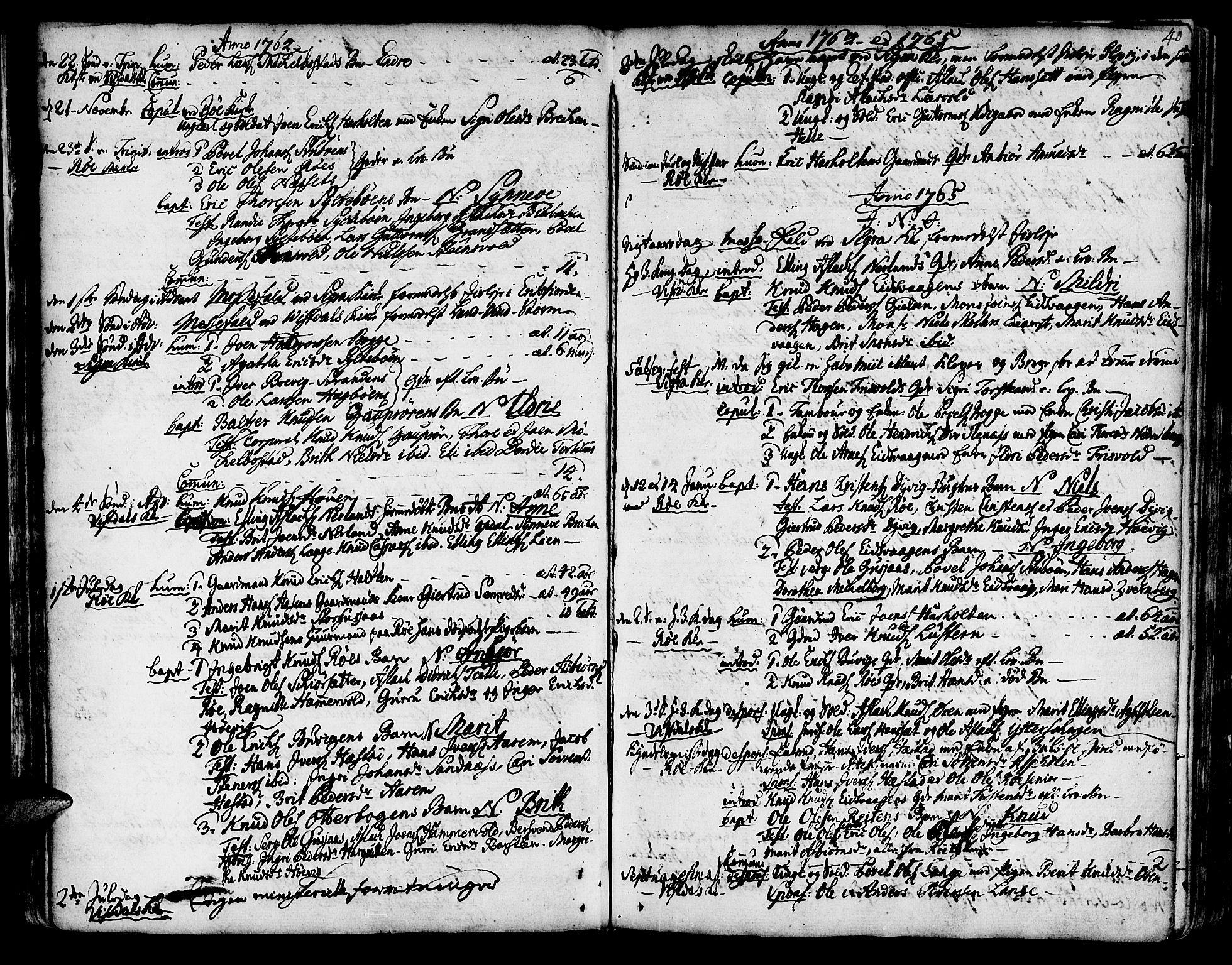 SAT, Ministerialprotokoller, klokkerbøker og fødselsregistre - Møre og Romsdal, 551/L0621: Parish register (official) no. 551A01, 1757-1803, p. 40
