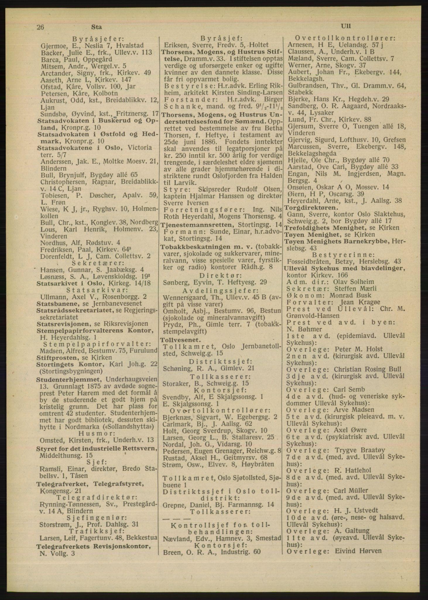 PUBL, Kristiania/Oslo adressebok, 1948, p. 26