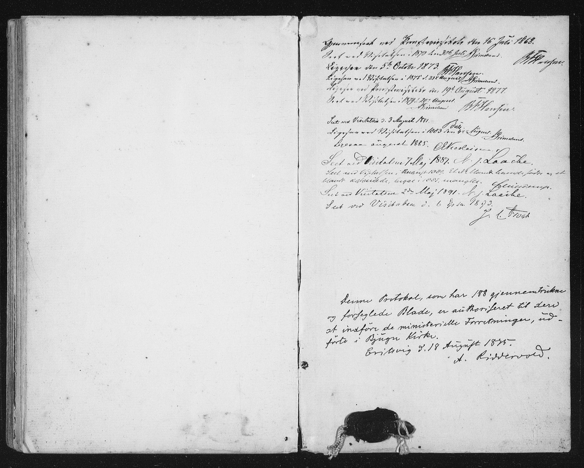 SAT, Ministerialprotokoller, klokkerbøker og fødselsregistre - Sør-Trøndelag, 651/L0647: Parish register (copy) no. 651C01, 1866-1914