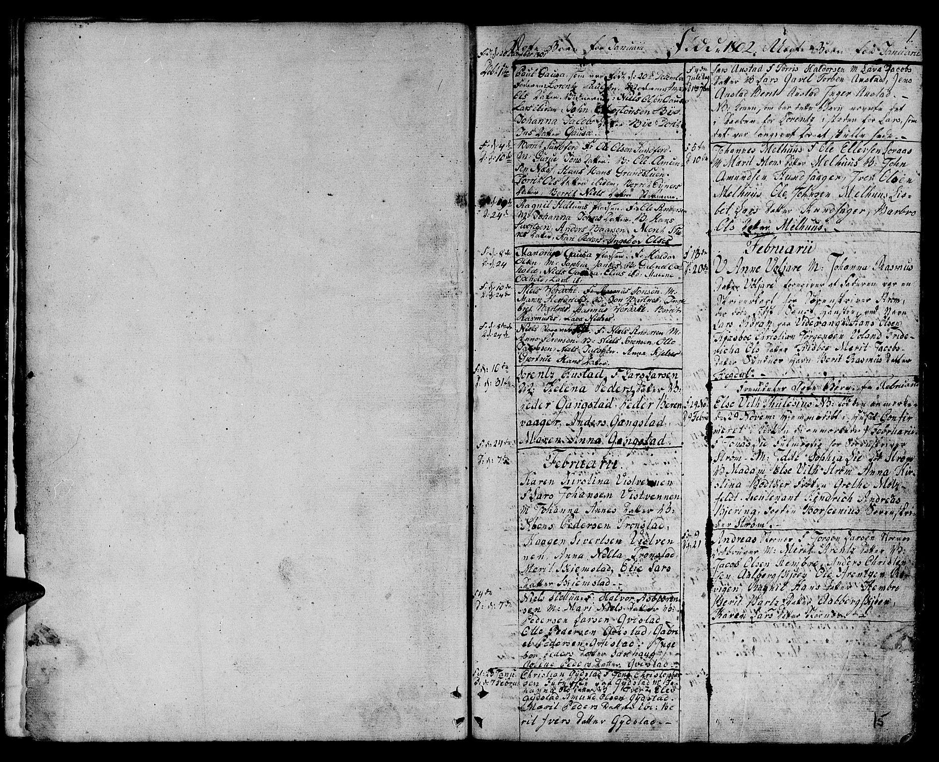 SAT, Ministerialprotokoller, klokkerbøker og fødselsregistre - Nord-Trøndelag, 730/L0274: Parish register (official) no. 730A03, 1802-1816, p. 0-1