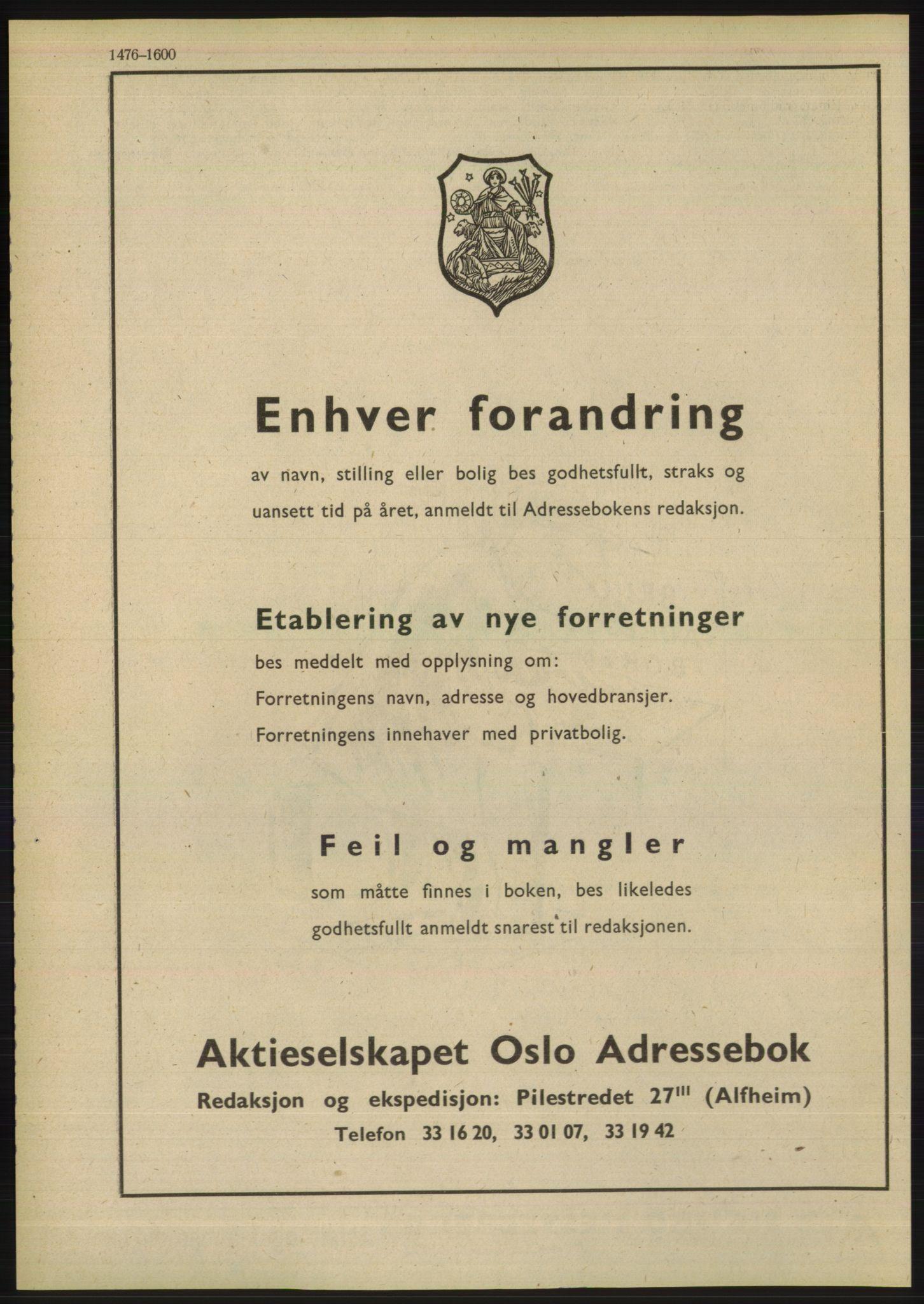 PUBL, Kristiania/Oslo adressebok, 1948, p. 1476
