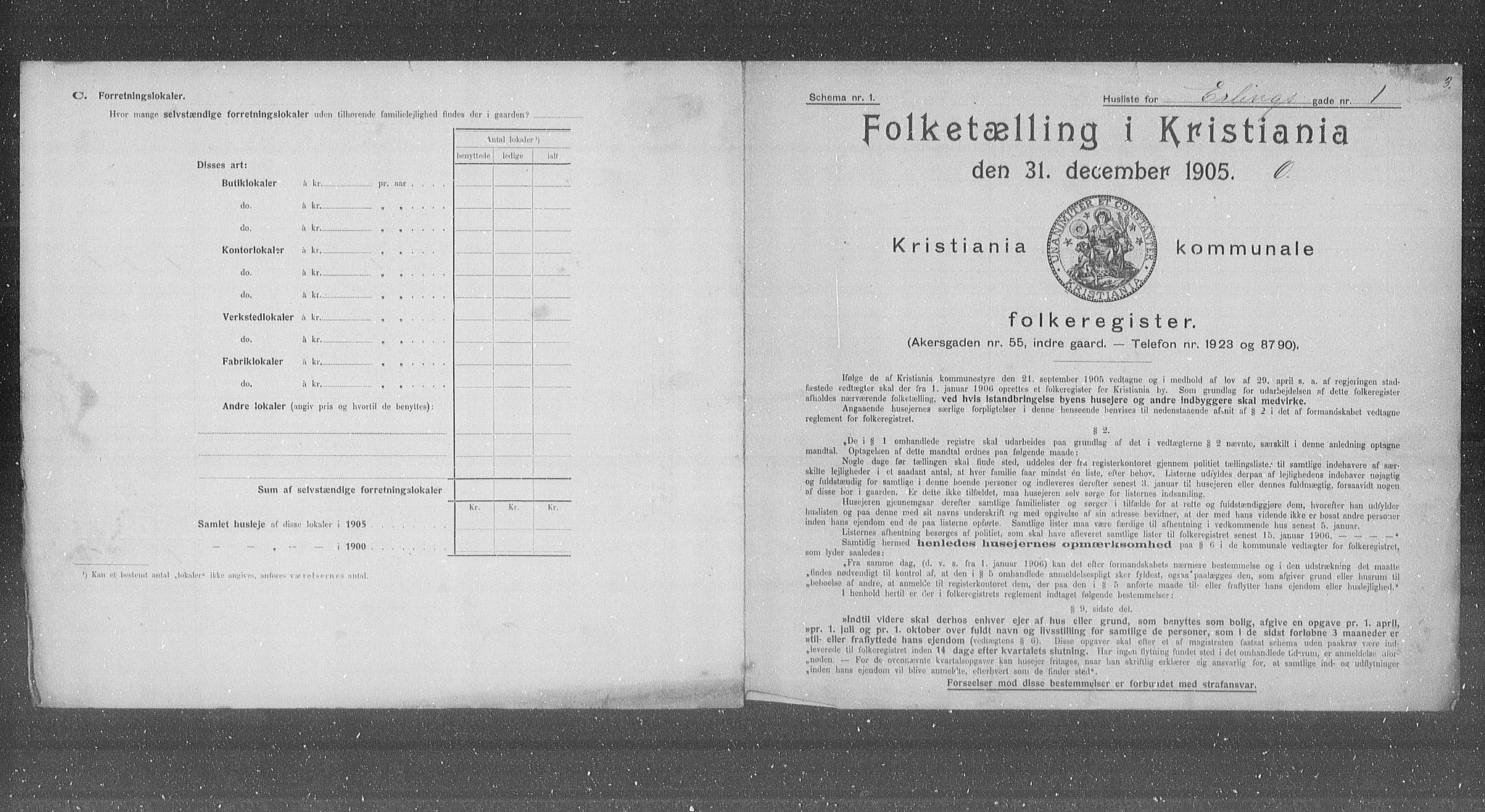 OBA, Municipal Census 1905 for Kristiania, 1905, p. 11382
