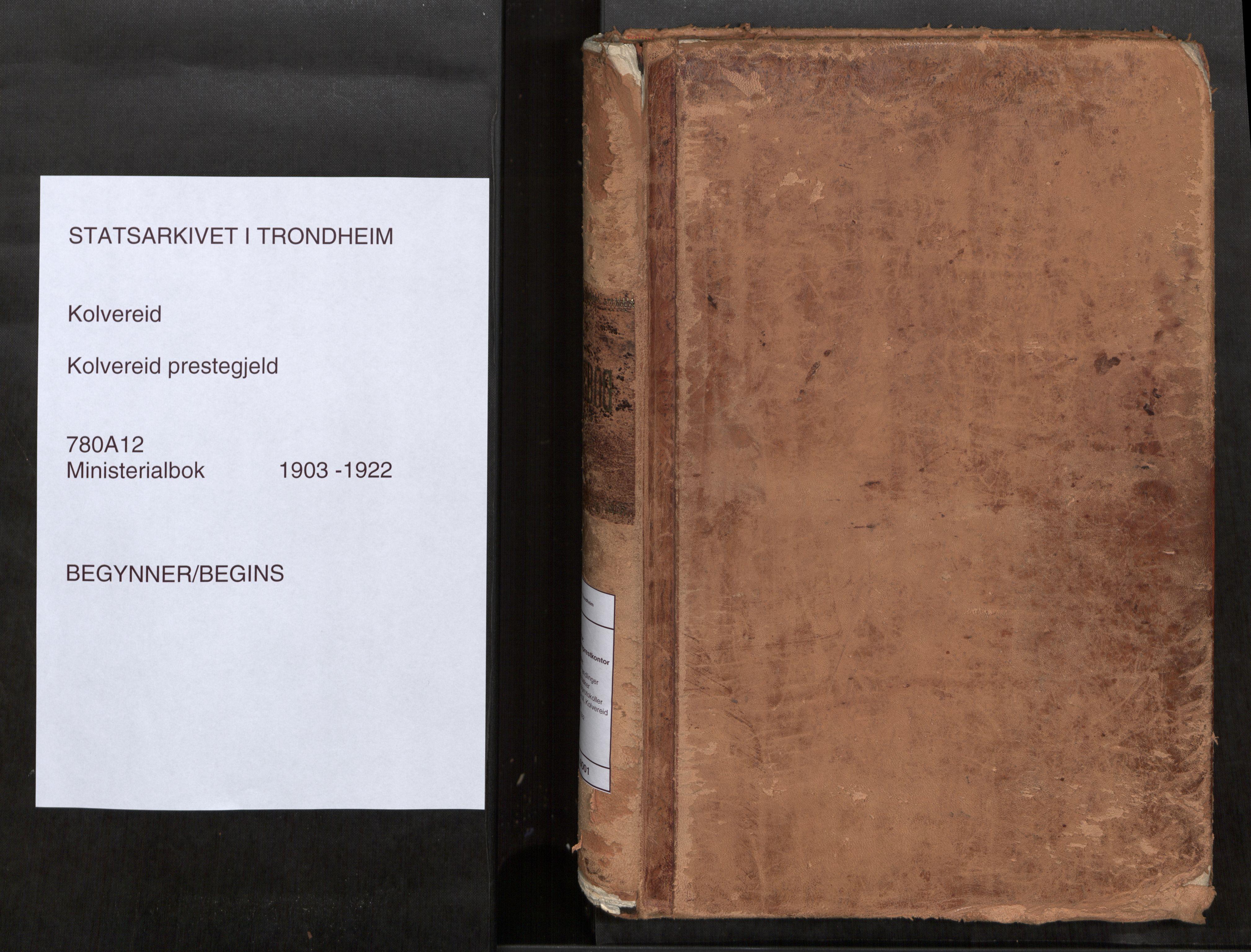 SAT, Kolvereid sokneprestkontor, H/Ha/Haa/L0001: Parish register (official) no. 1, 1903-1922
