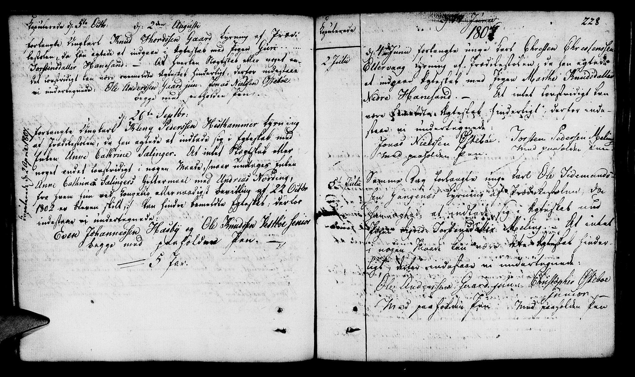 SAST, Finnøy sokneprestkontor, H/Ha/Haa/L0005: Parish register (official) no. A 5, 1773-1816, p. 228