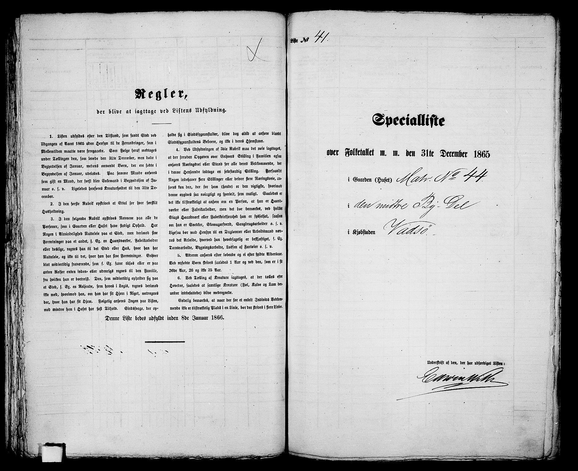 RA, 1865 census for Vadsø/Vadsø, 1865, p. 87