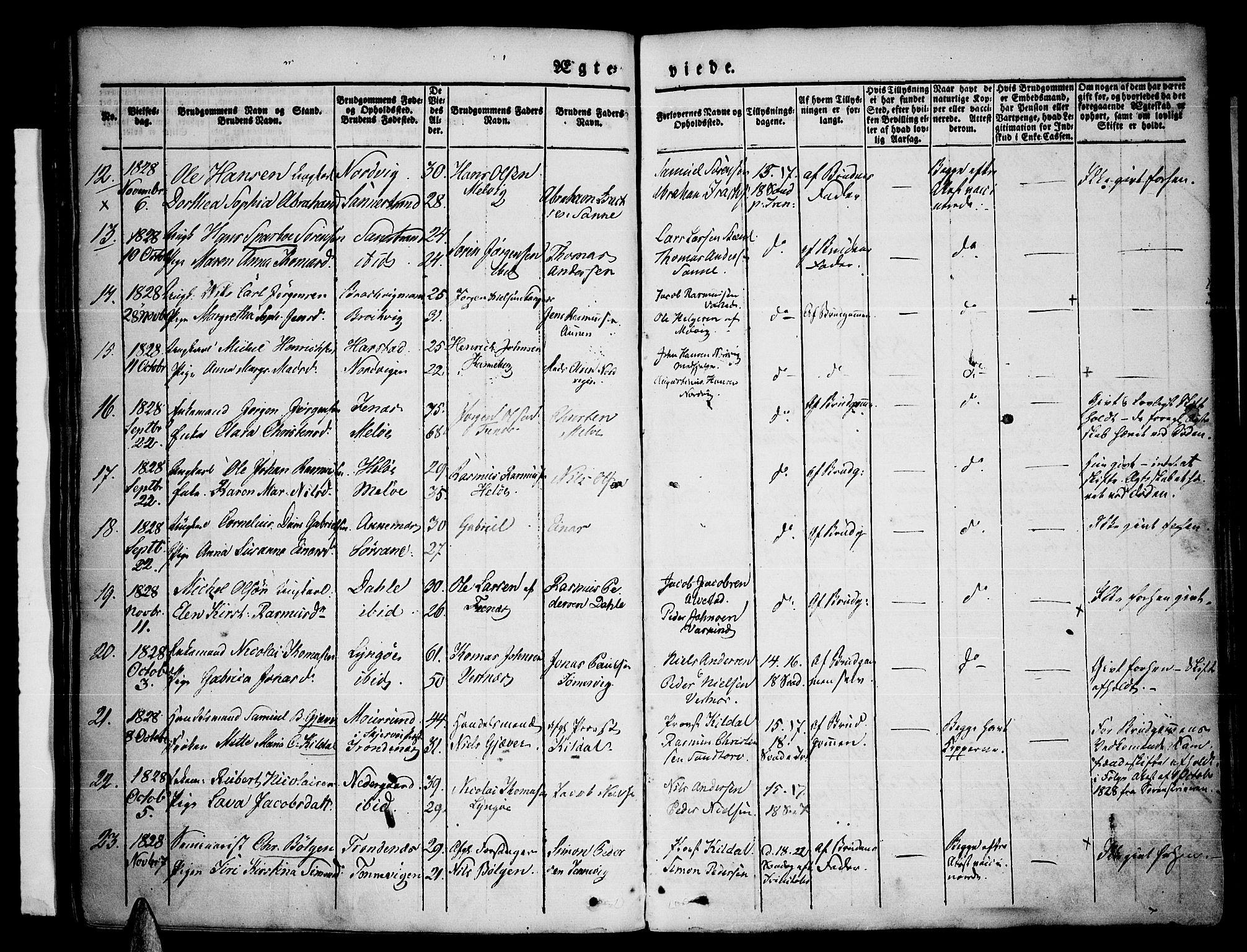 SATØ, Trondenes sokneprestkontor, H/Ha/L0007kirke: Parish register (official) no. 7, 1827-1841
