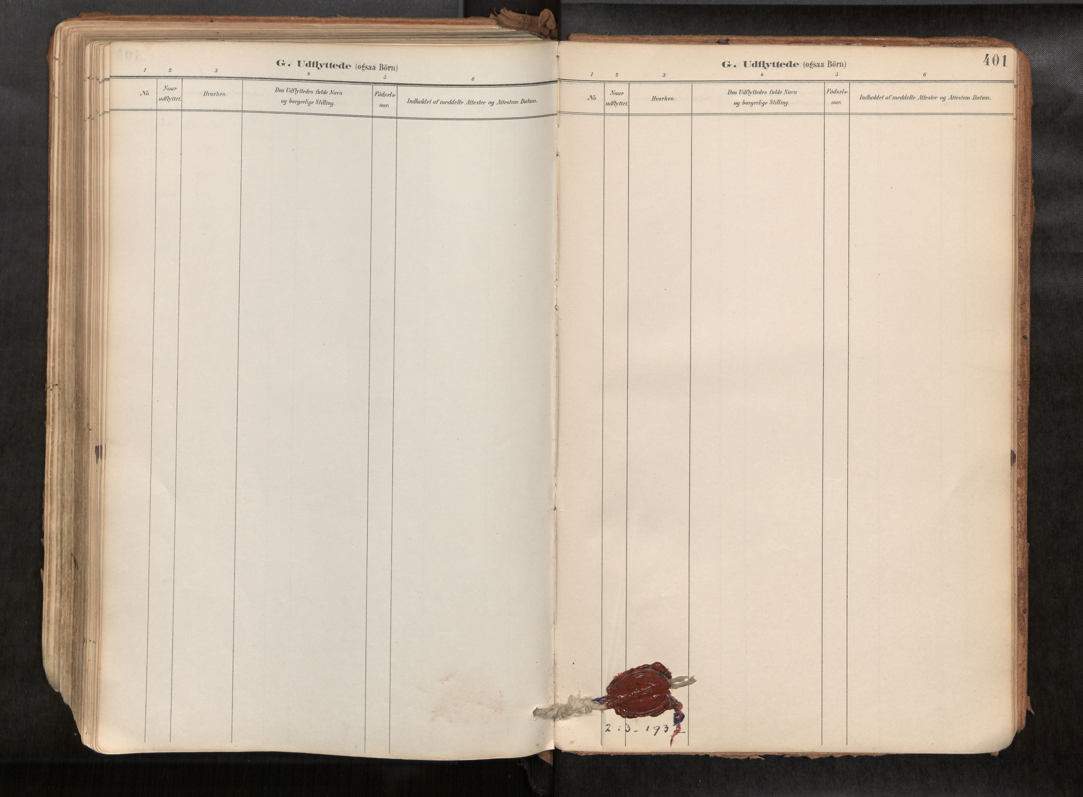 SAT, Ministerialprotokoller, klokkerbøker og fødselsregistre - Sør-Trøndelag, 692/L1105b: Parish register (official) no. 692A06, 1891-1934, p. 401