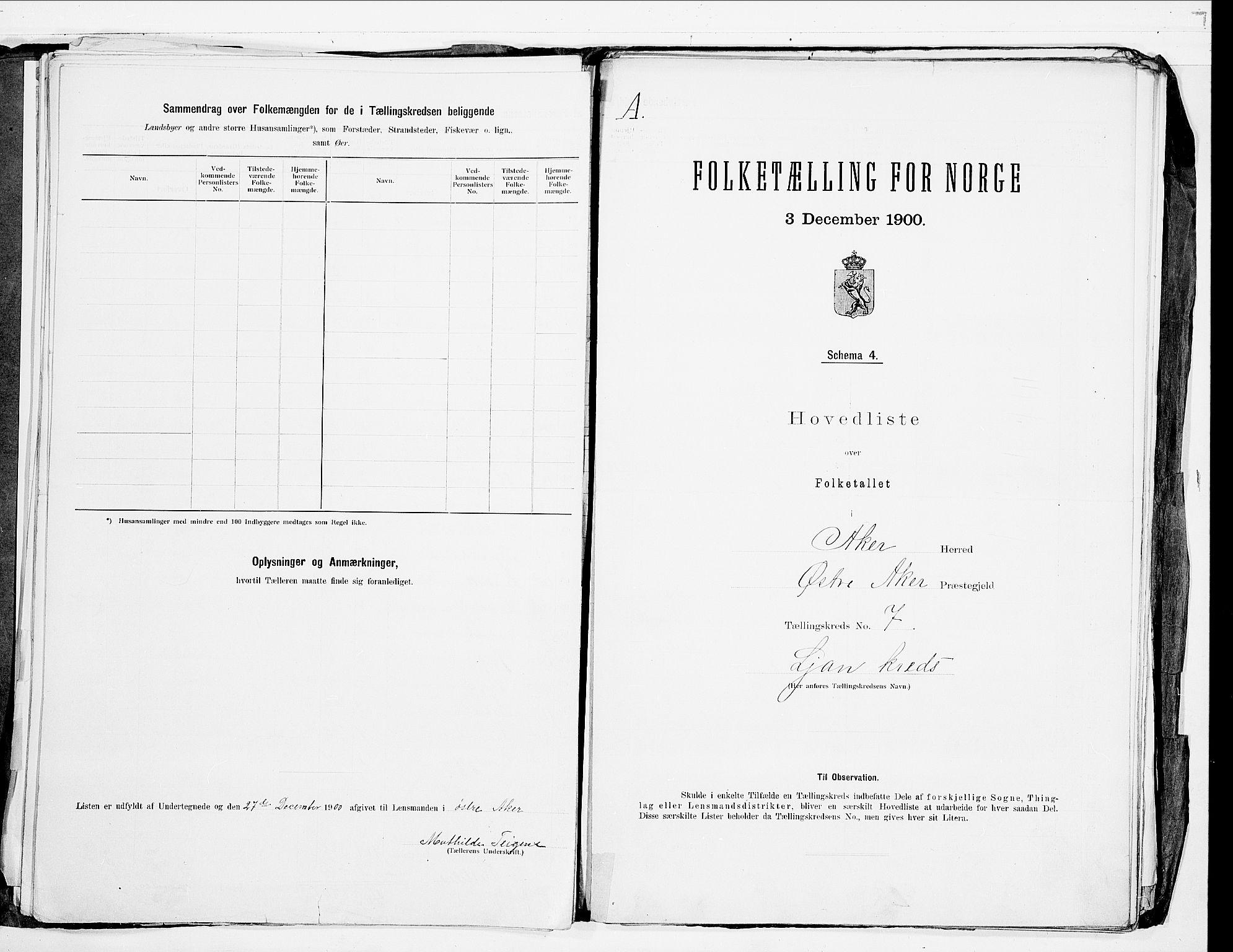 SAO, 1900 census for Aker, 1900, p. 25