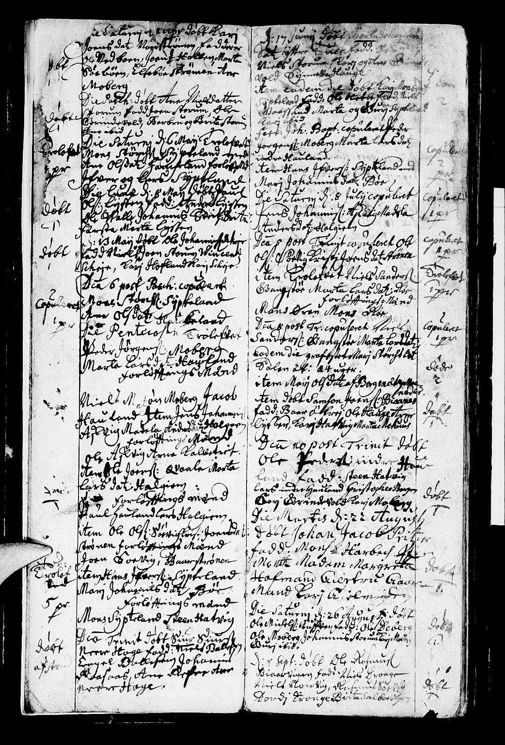 SAB, Os sokneprestembete*, Parish register (official) no. A 2, 1723-1758, p. 4