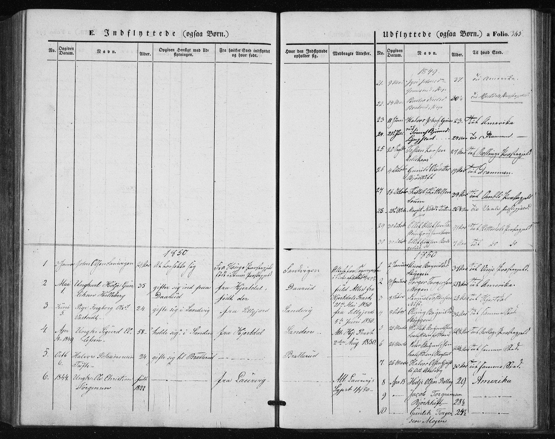 SAKO, Tinn kirkebøker, F/Fa/L0005: Parish register (official) no. I 5, 1844-1856, p. 365