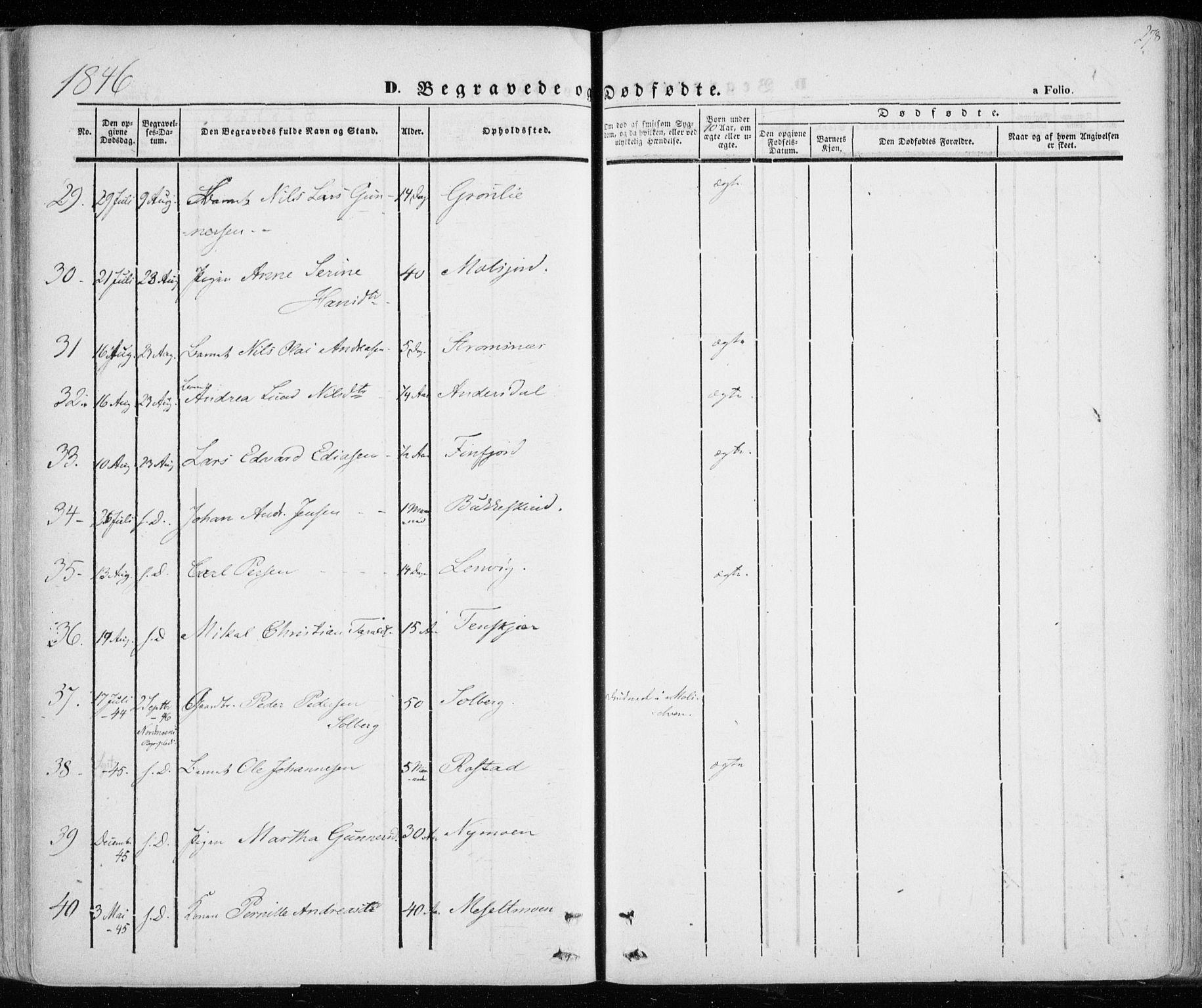 SATØ, Lenvik sokneprestembete, H/Ha: Parish register (official) no. 6, 1845-1854, p. 278