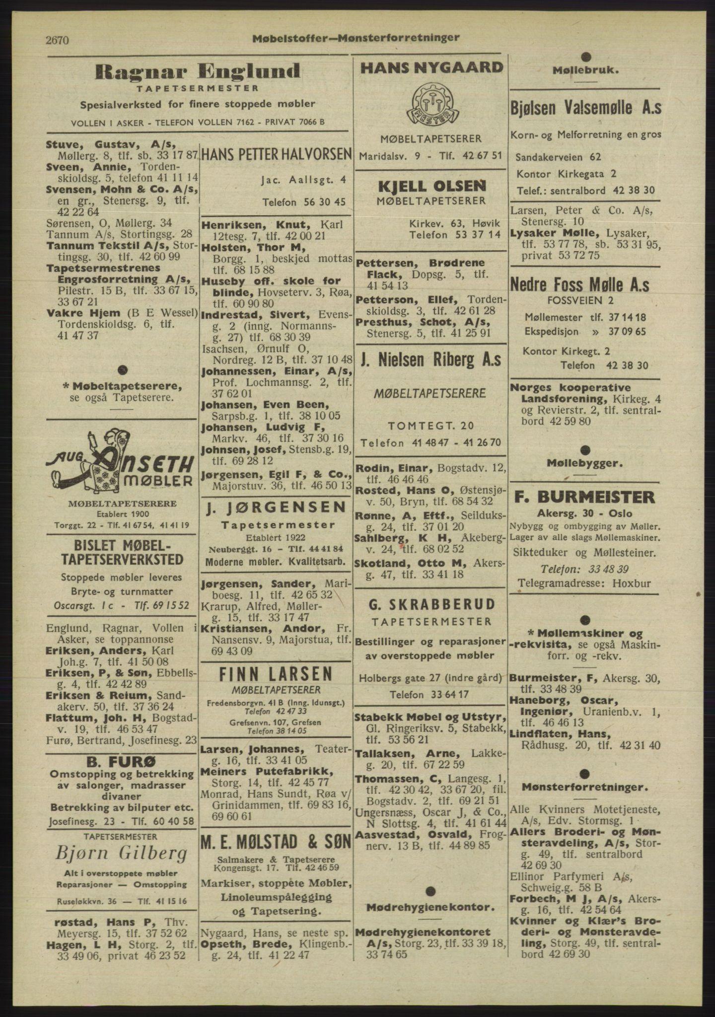 PUBL, Kristiania/Oslo adressebok, 1955, p. 2670