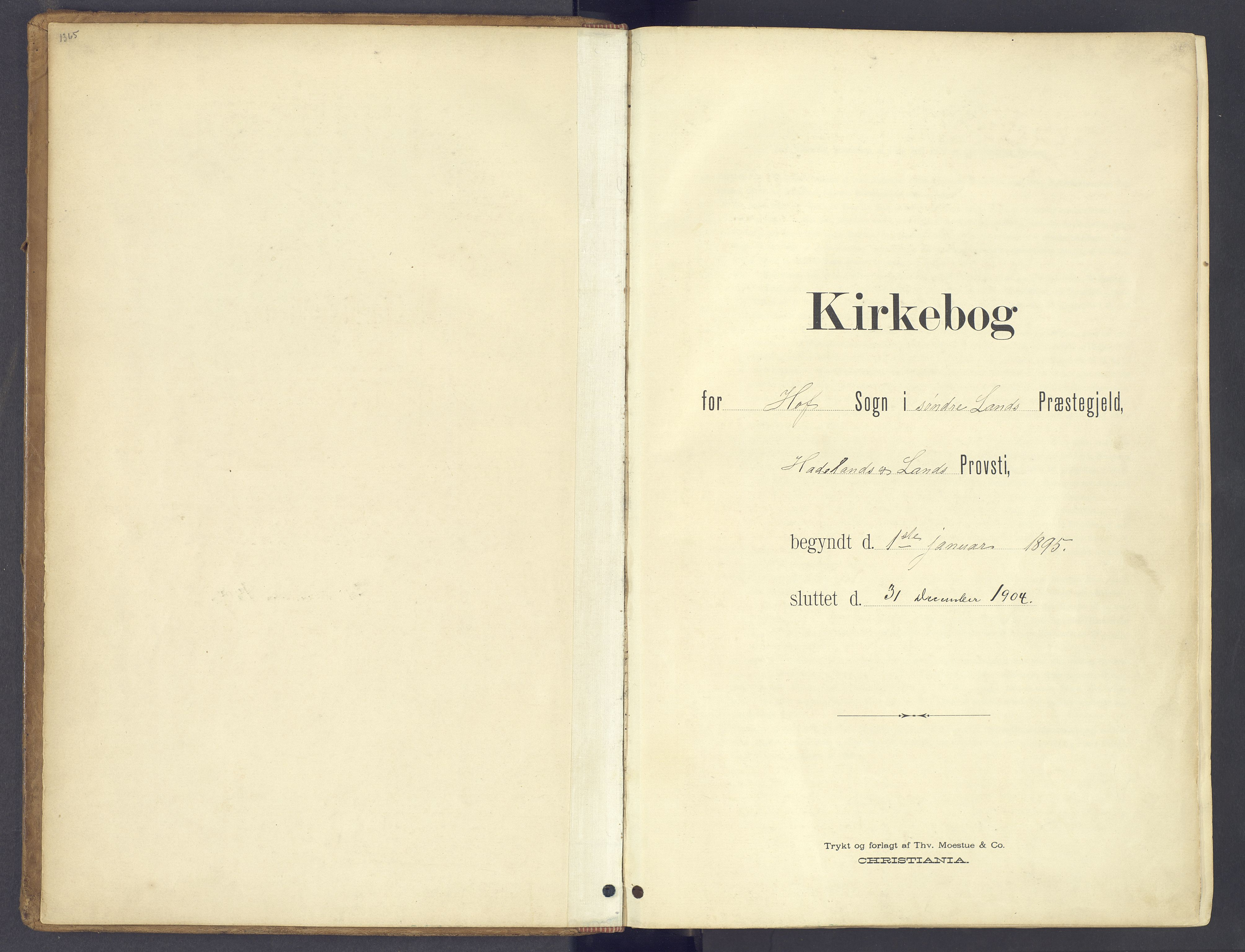 SAH, Søndre Land prestekontor, K/L0006: Parish register (official) no. 6, 1895-1904