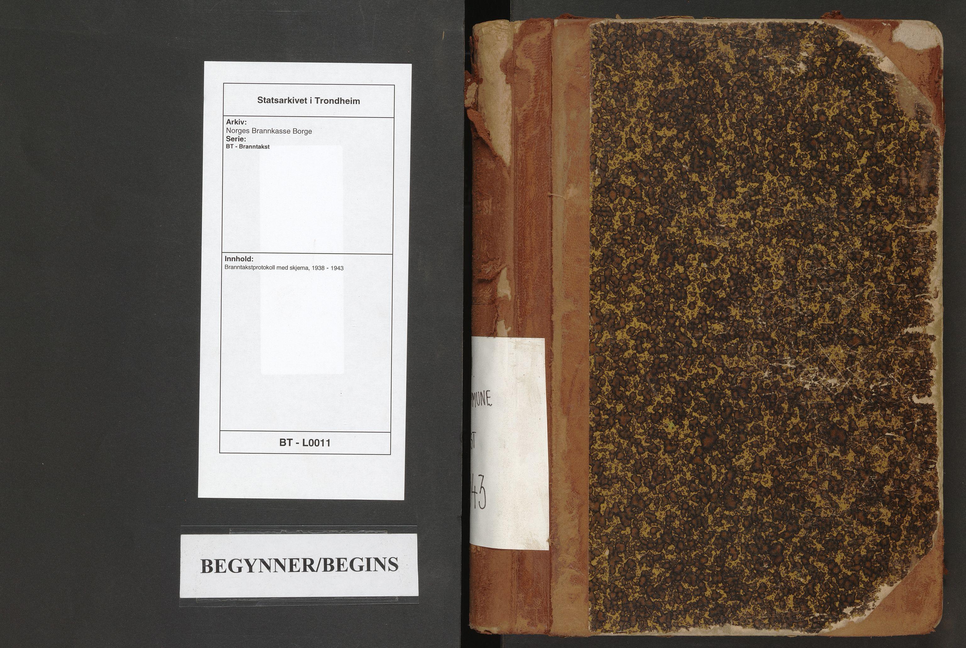 SAT, Norges Brannkasse Borge, BT/L0011: Branntakstprotokoll med skjema, 1938-1943