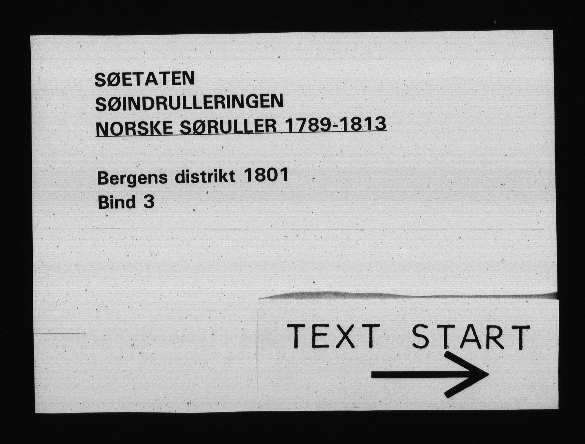 RA, Sjøetaten, F/L0235: Bergen distrikt, bind 3, 1801