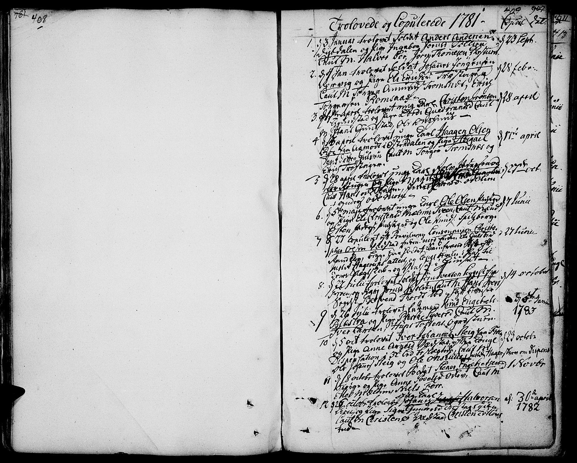 SAH, Ringebu prestekontor, Parish register (official) no. 3, 1781-1820, p. 408-409