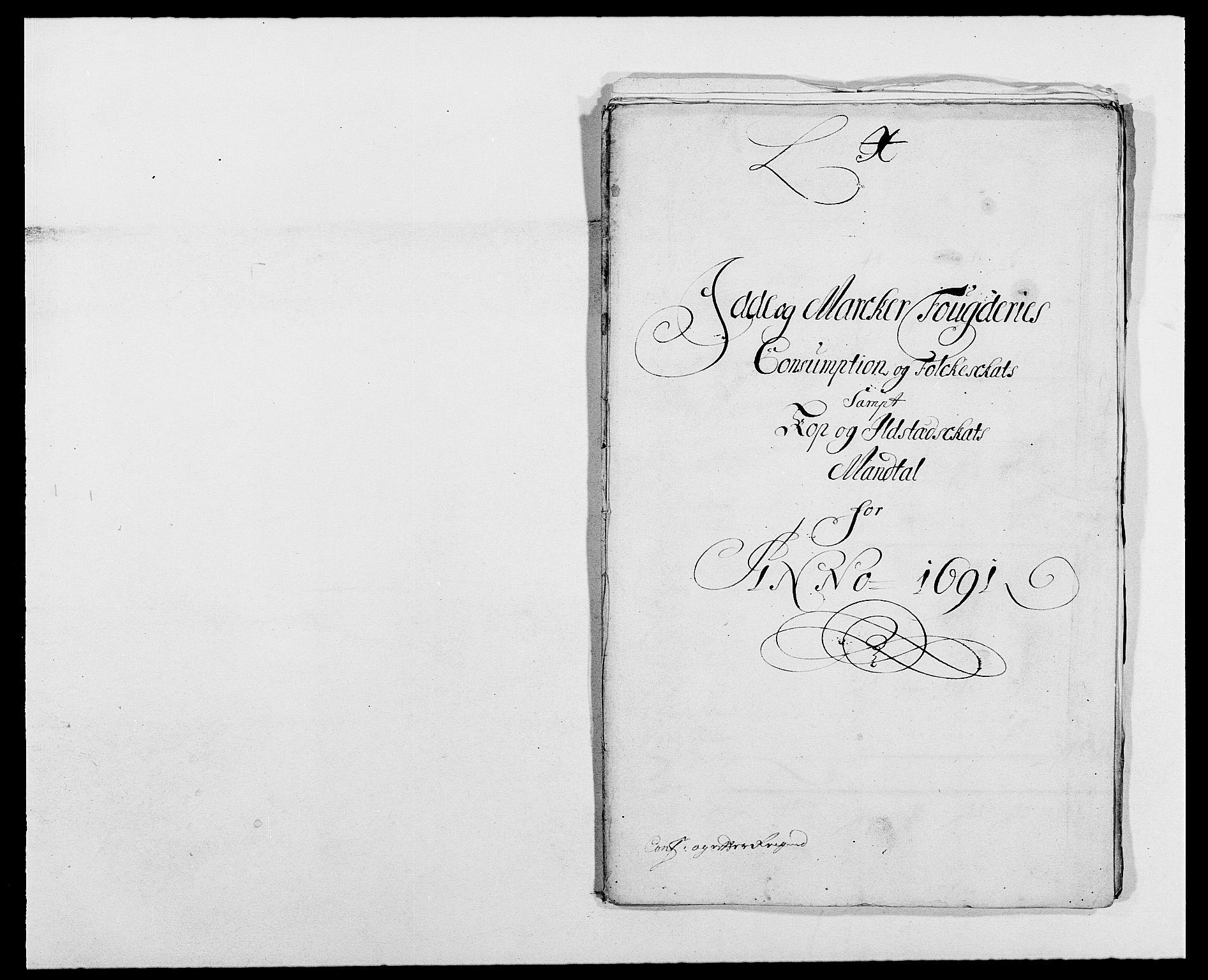 RA, Rentekammeret inntil 1814, Reviderte regnskaper, Fogderegnskap, R01/L0010: Fogderegnskap Idd og Marker, 1690-1691, p. 394