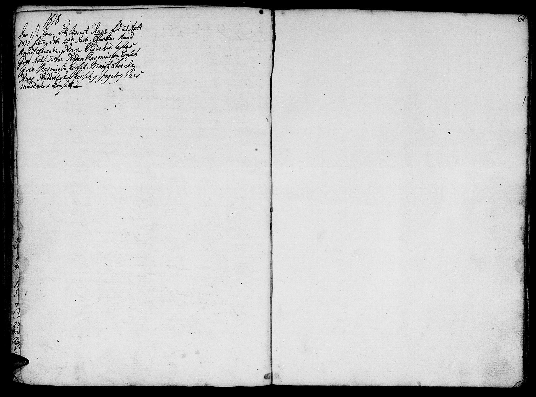 SAT, Ministerialprotokoller, klokkerbøker og fødselsregistre - Møre og Romsdal, 555/L0649: Parish register (official) no. 555A02 /1, 1795-1821, p. 62