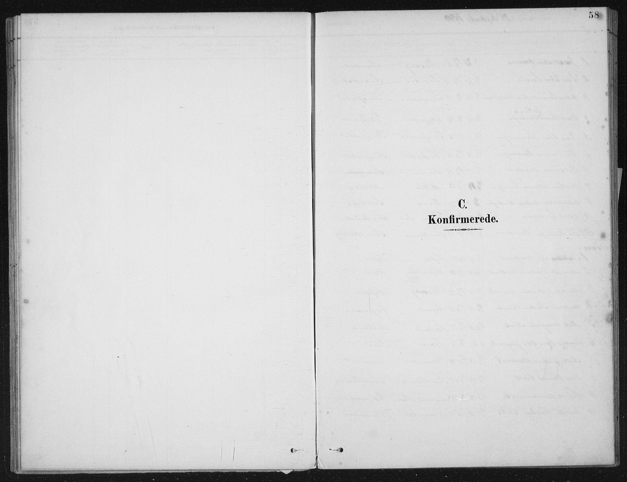 SAB, Kinn sokneprestembete, H/Haa/Haae/L0001: Parish register (official) no. E 1, 1890-1916, p. 58