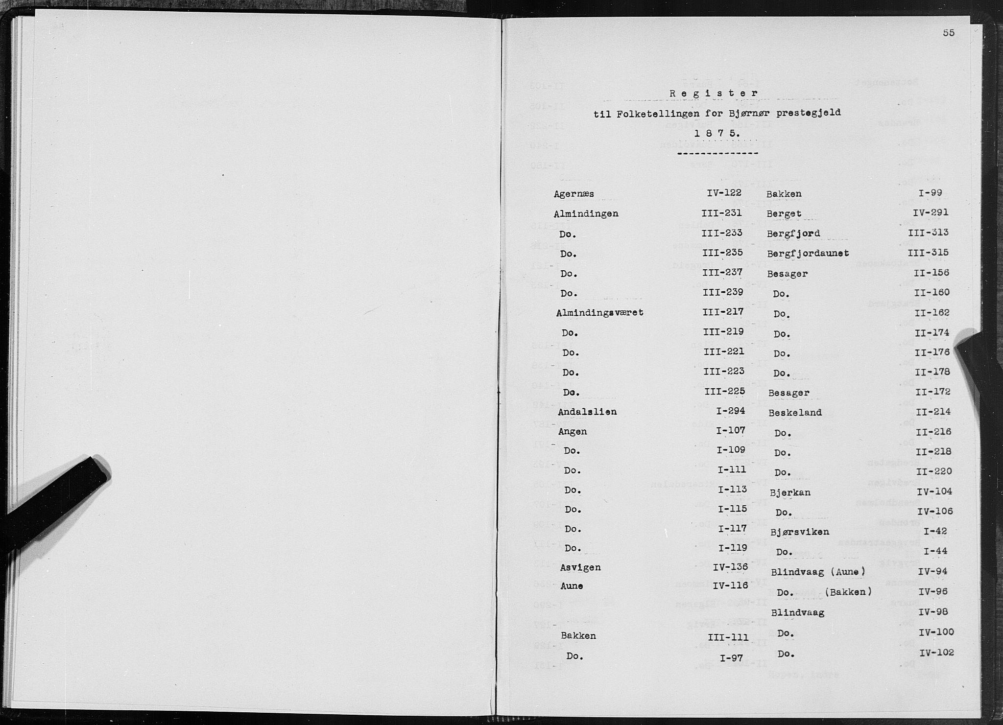 SAT, 1875 census for 1632P Bjørnør, 1875, p. 55
