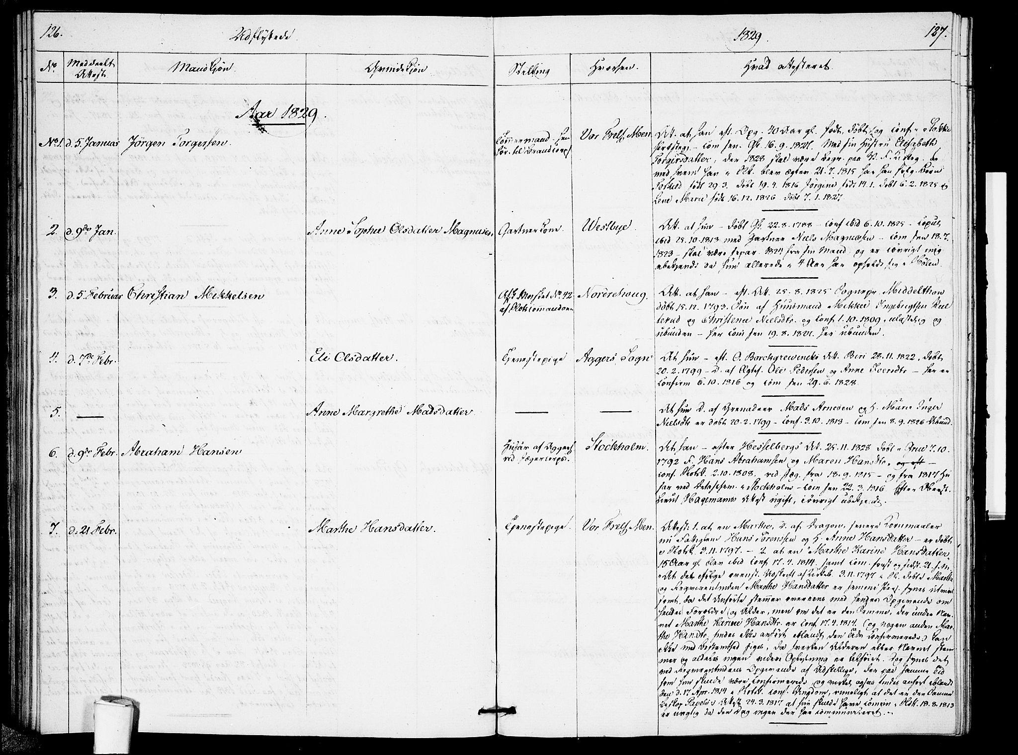 SAO, Garnisonsmenigheten Kirkebøker, F/Fa/L0005: Parish register (official) no. 5, 1824-1830, p. 126-127