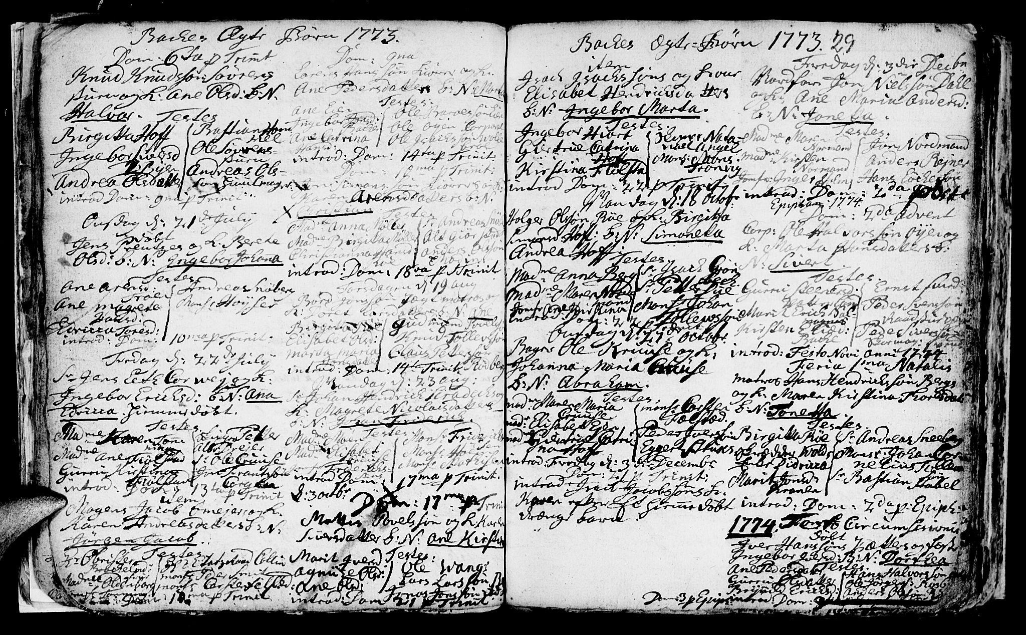SAT, Ministerialprotokoller, klokkerbøker og fødselsregistre - Sør-Trøndelag, 604/L0218: Parish register (copy) no. 604C01, 1754-1819, p. 29
