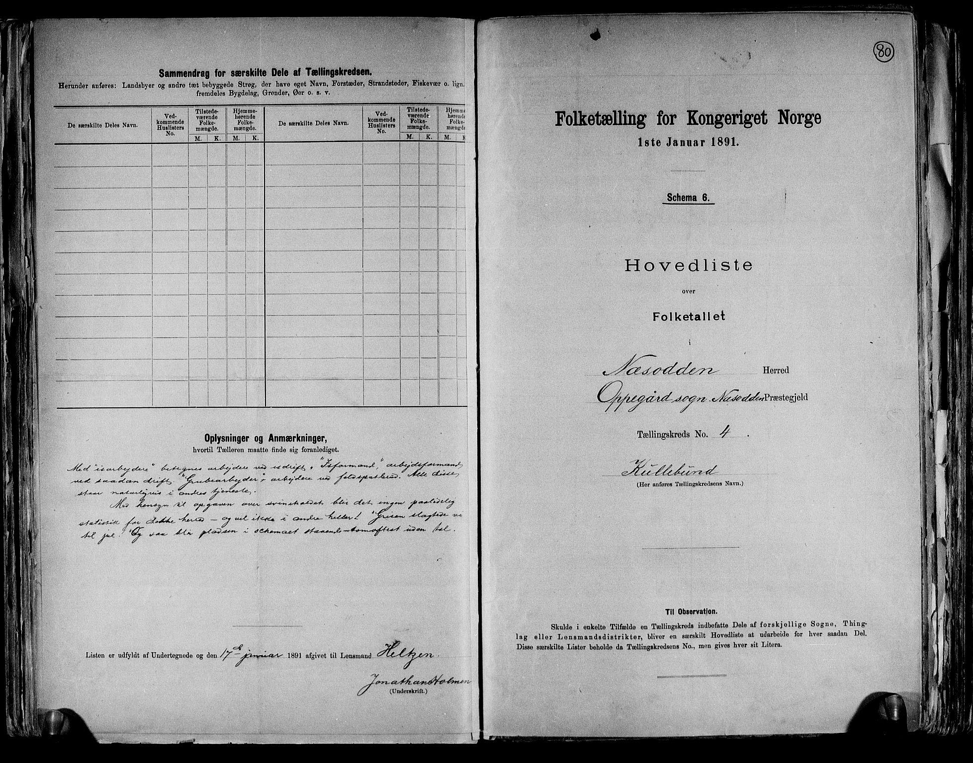 RA, 1891 census for 0216 Nesodden, 1891, p. 11