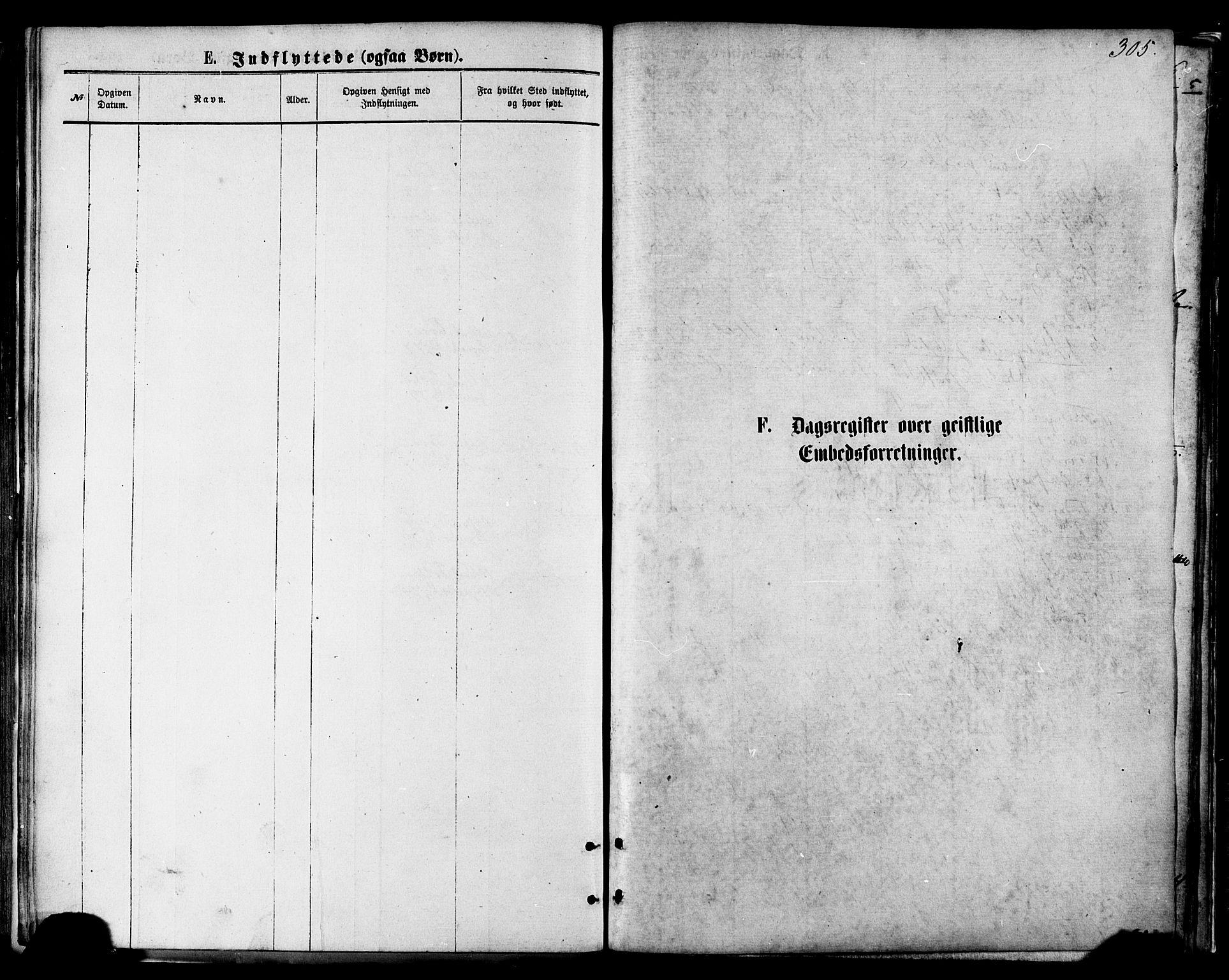 SAT, Ministerialprotokoller, klokkerbøker og fødselsregistre - Nordland, 801/L0009: Parish register (official) no. 801A09, 1876-1883, p. 305