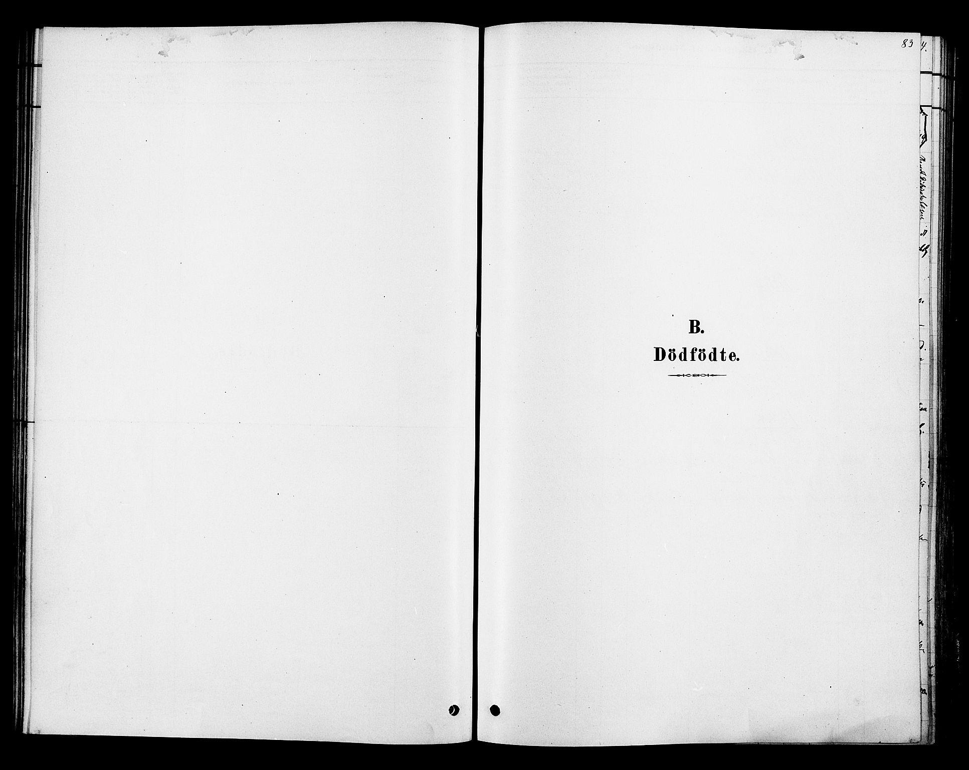 SAH, Ringsaker prestekontor, K/Ka/L0013: Parish register (official) no. 13, 1879-1890, p. 83