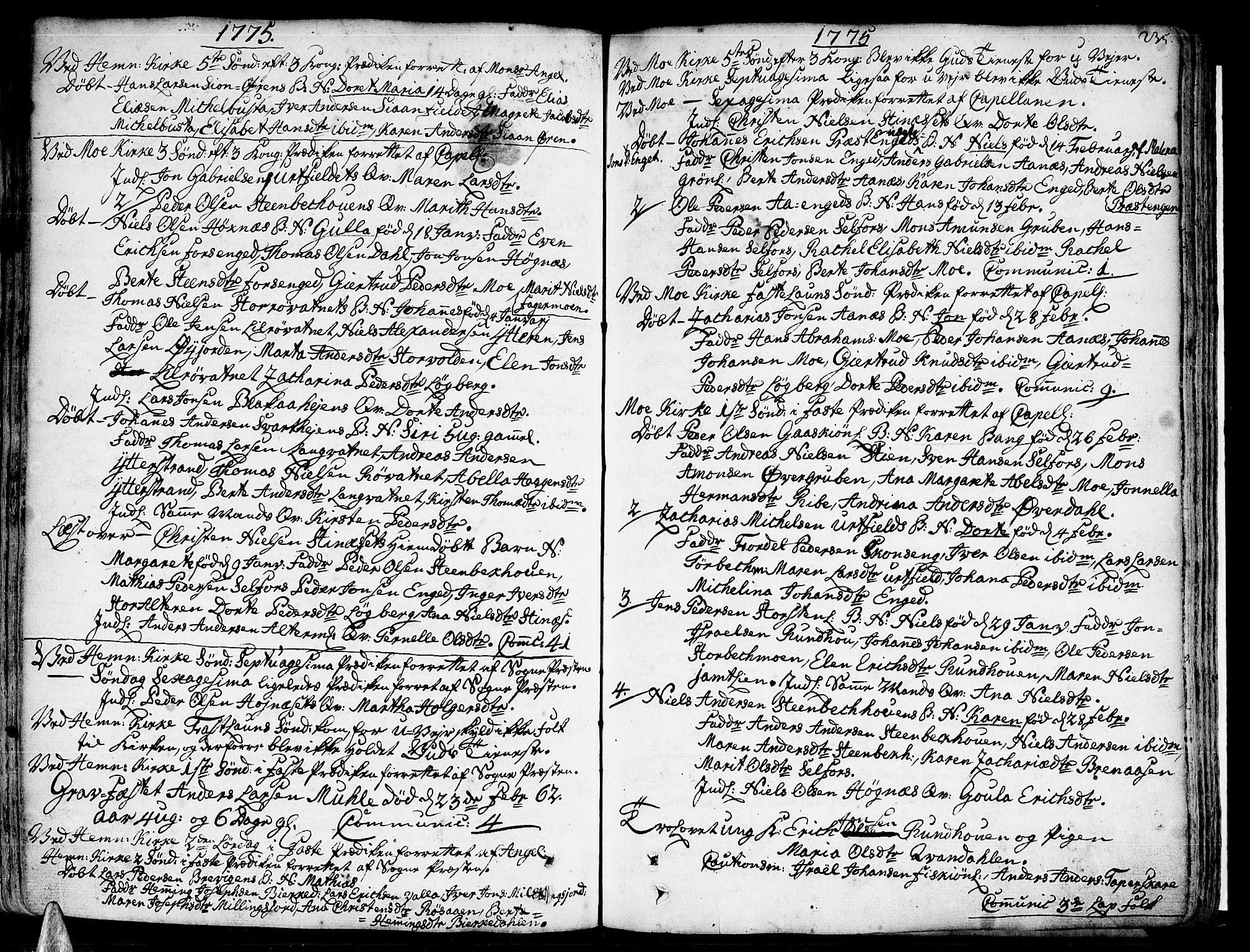 SAT, Ministerialprotokoller, klokkerbøker og fødselsregistre - Nordland, 825/L0348: Parish register (official) no. 825A04, 1752-1788, p. 235