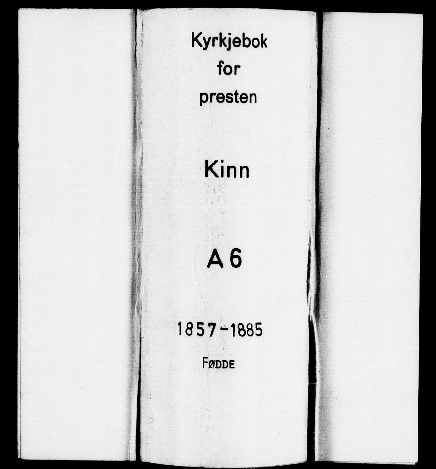 SAB, Kinn sokneprestembete, H/Haa/Haaa/L0006: Parish register (official) no. A 6, 1857-1885