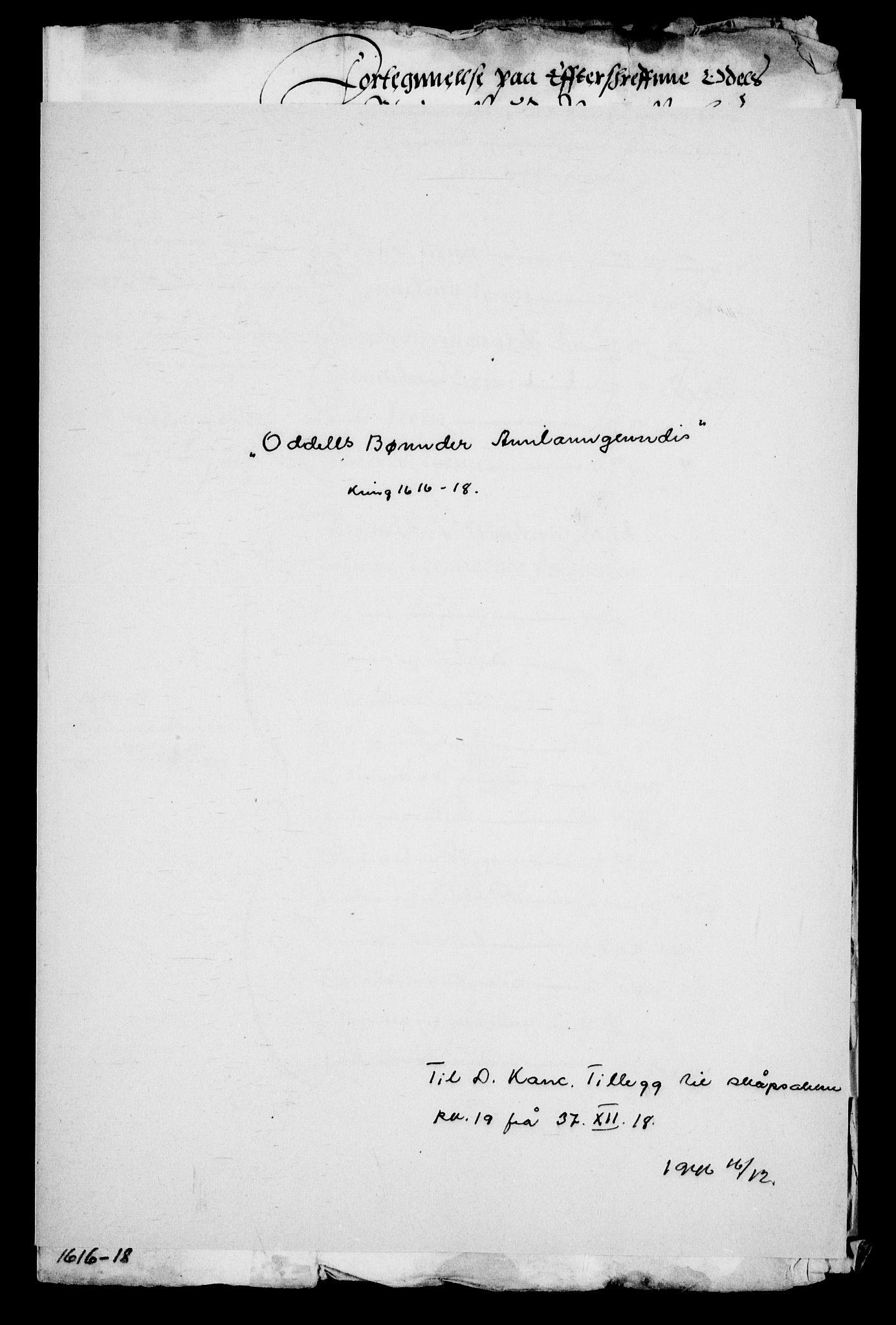 RA, Danske Kanselli, Skapsaker, G/L0019: Tillegg til skapsakene, 1616-1753, p. 51