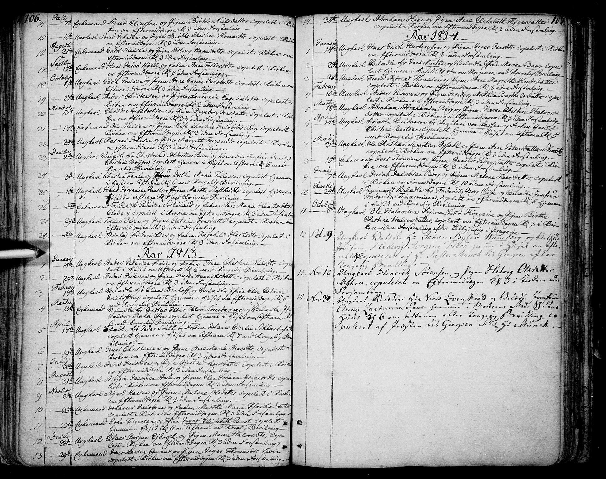 SAKO, Skien kirkebøker, F/Fa/L0004: Parish register (official) no. 4, 1792-1814, p. 106-107
