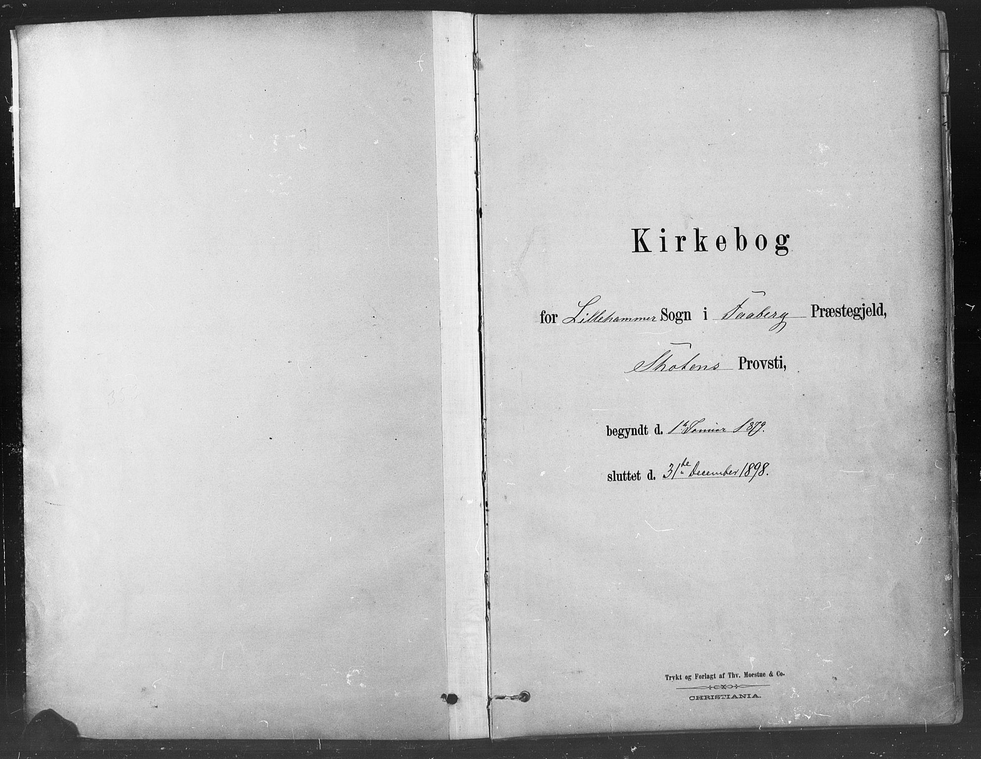 SAH, Fåberg prestekontor, H/Ha/Haa/L0009: Parish register (official) no. 9, 1879-1898