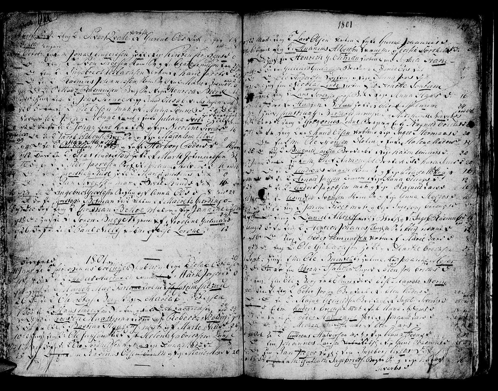 SAB, Domkirken Sokneprestembete, H/Haa/L0007: Parish register (official) no. A 7, 1725-1826, p. 126-127