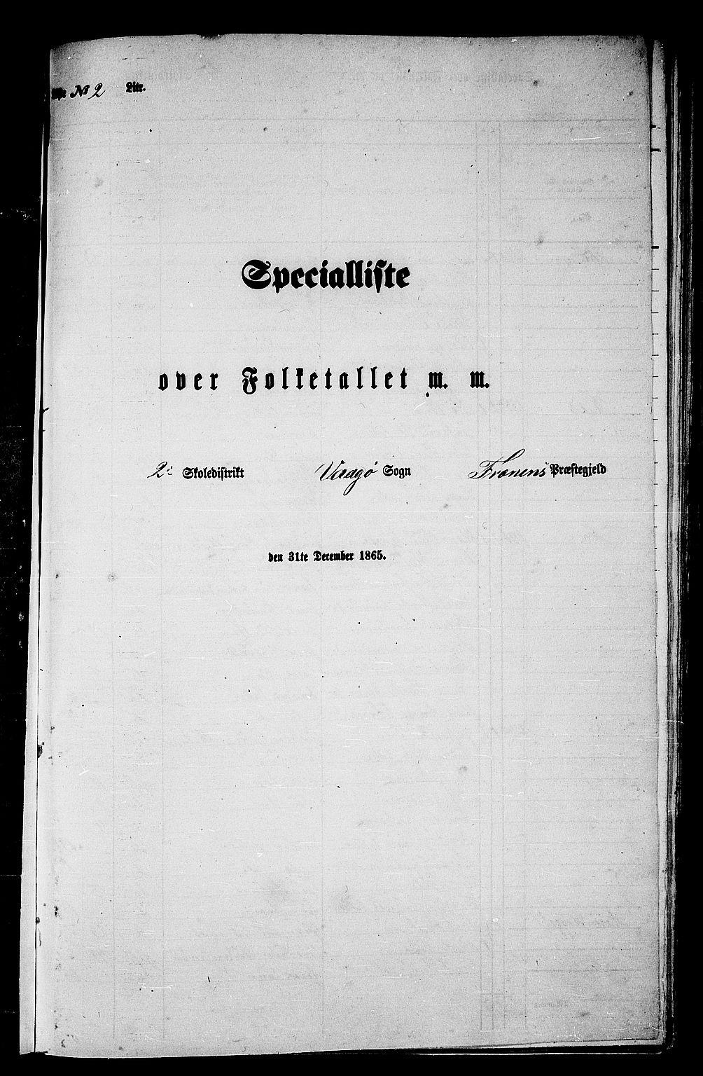 RA, 1865 census for Fræna, 1865, p. 26