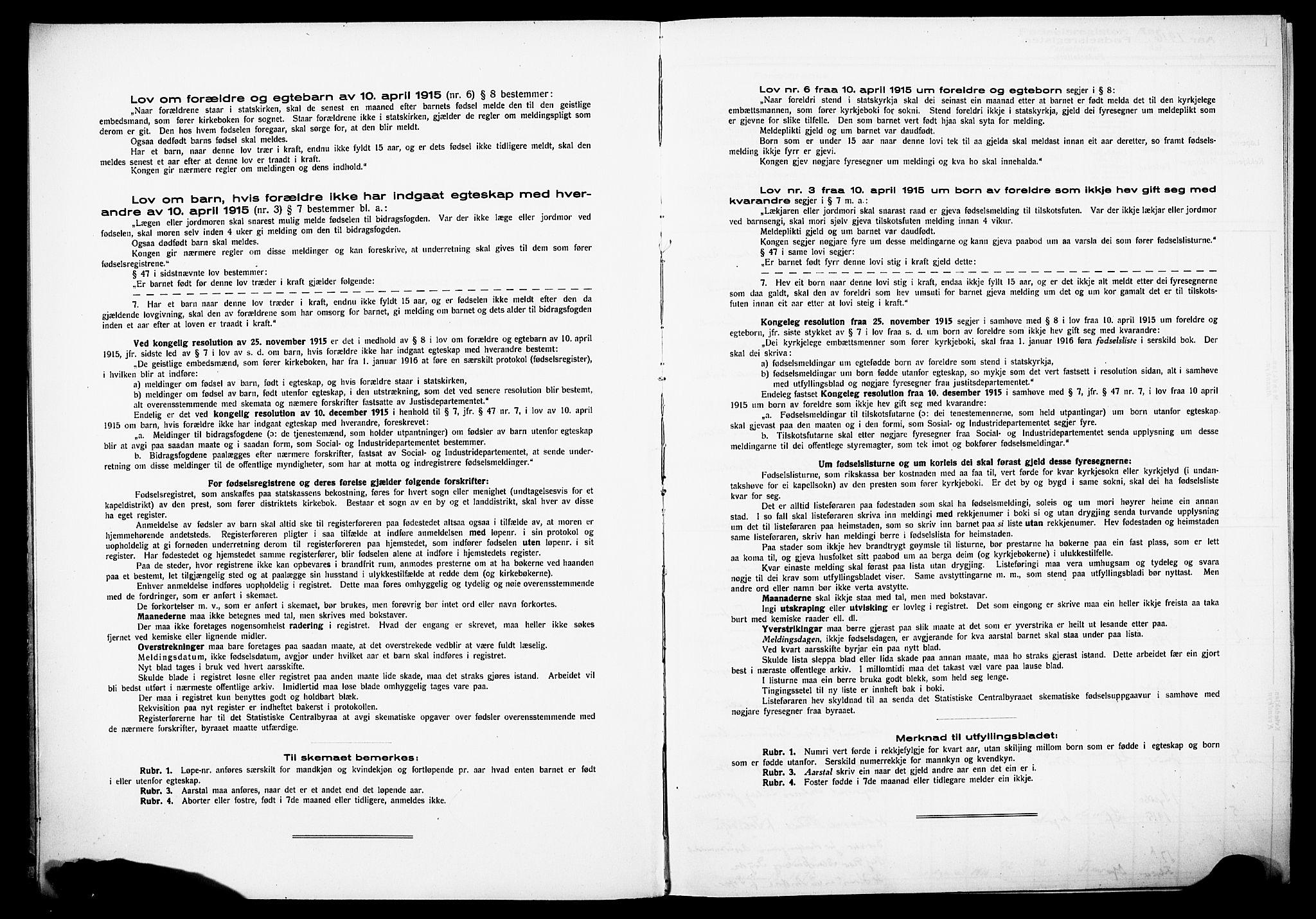 SAKO, Sandefjord kirkebøker, J/Ja/L0001: Birth register no. 1, 1916-1932
