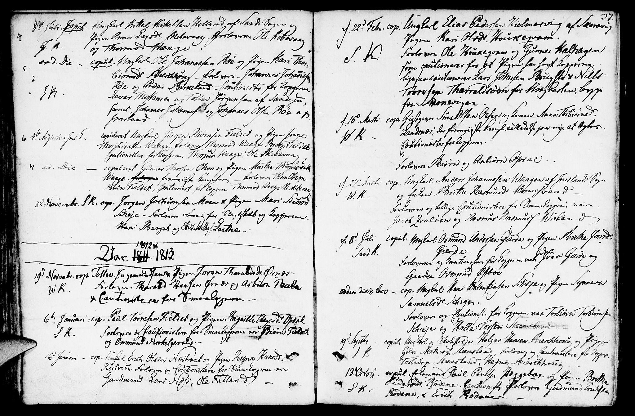 SAST, Vikedal sokneprestkontor, IV: Parish register (official) no. A 2, 1779-1817, p. 37