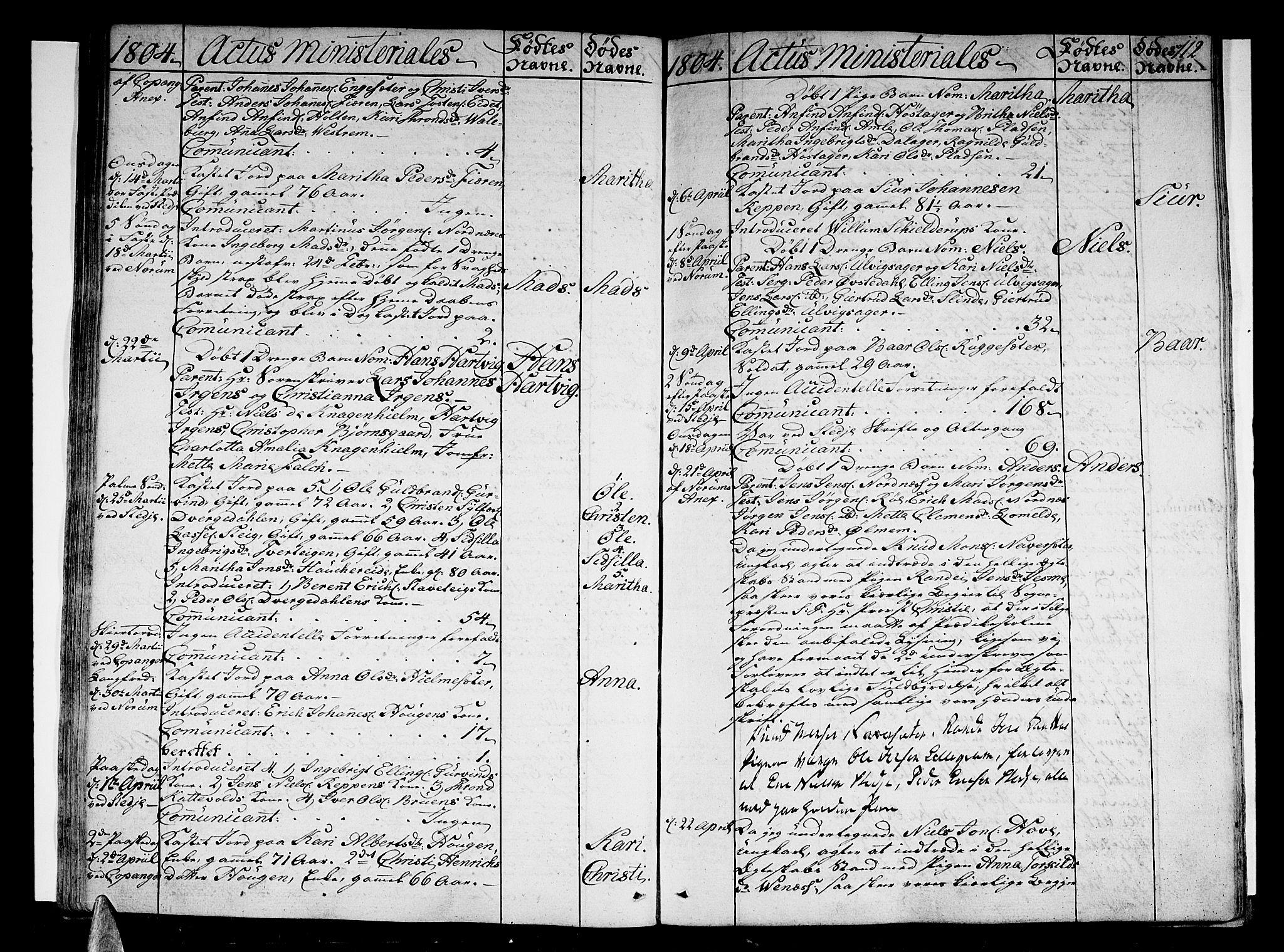 SAB, Sogndal sokneprestembete, H/Haa/Haaa/L0008: Parish register (official) no. A 8, 1795-1809, p. 112
