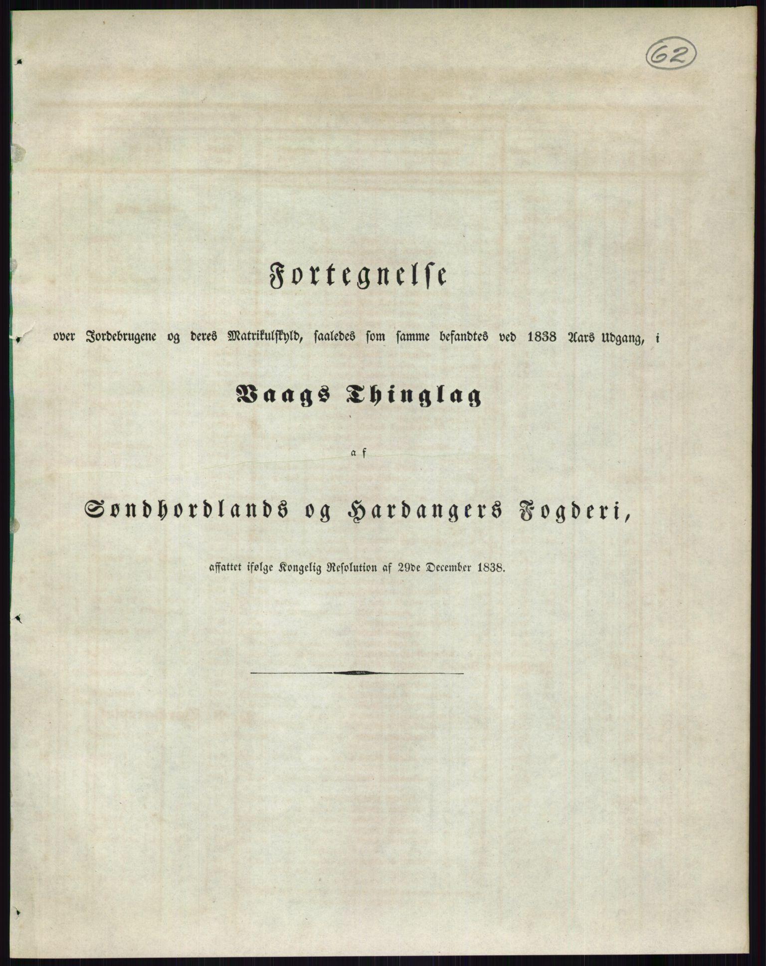 PUBL, Andre publikasjoner, -/Bind 11: Søndre Bergenhus amt: Sunnhordland og Hardanger fogderi, Stamhuset Rosendals gods og Lyse klosters gods, 1838, p. 105