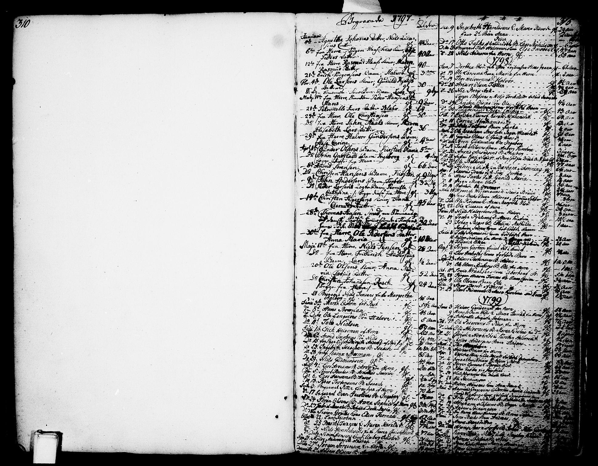 SAKO, Porsgrunn kirkebøker , F/Fa/L0002: Parish register (official) no. 2, 1764-1814, p. 314-315