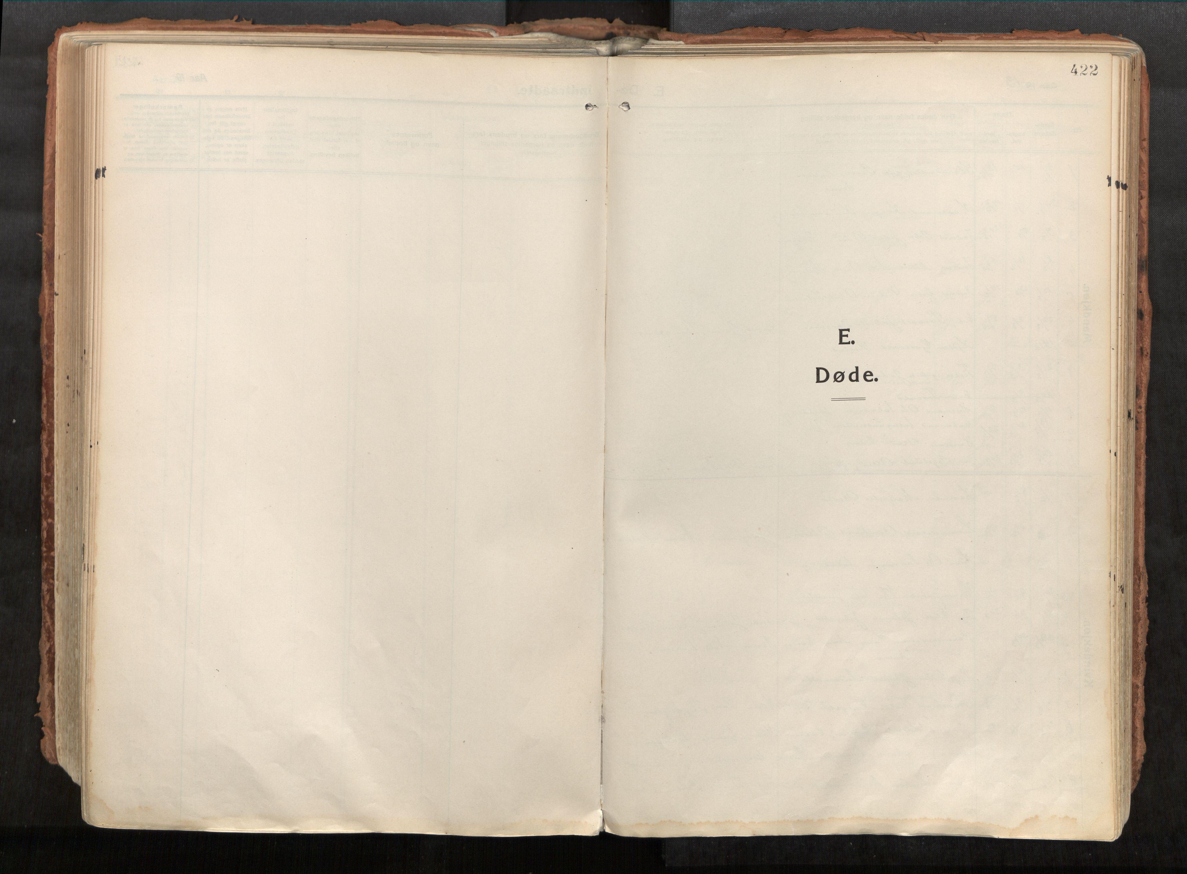 SAT, Vikna sokneprestkontor*, Parish register (official) no. 1, 1913-1934, p. 422