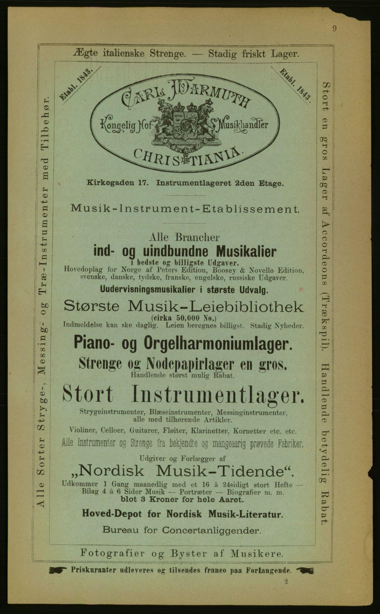 PUBL, Kristiania/Oslo adressebok, 1883, p. 9